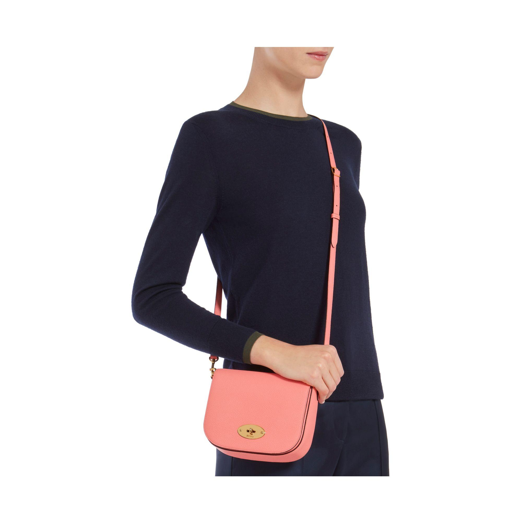 9c5bbc6096d2 Lyst - Mulberry Small Darley Satchel in Pink