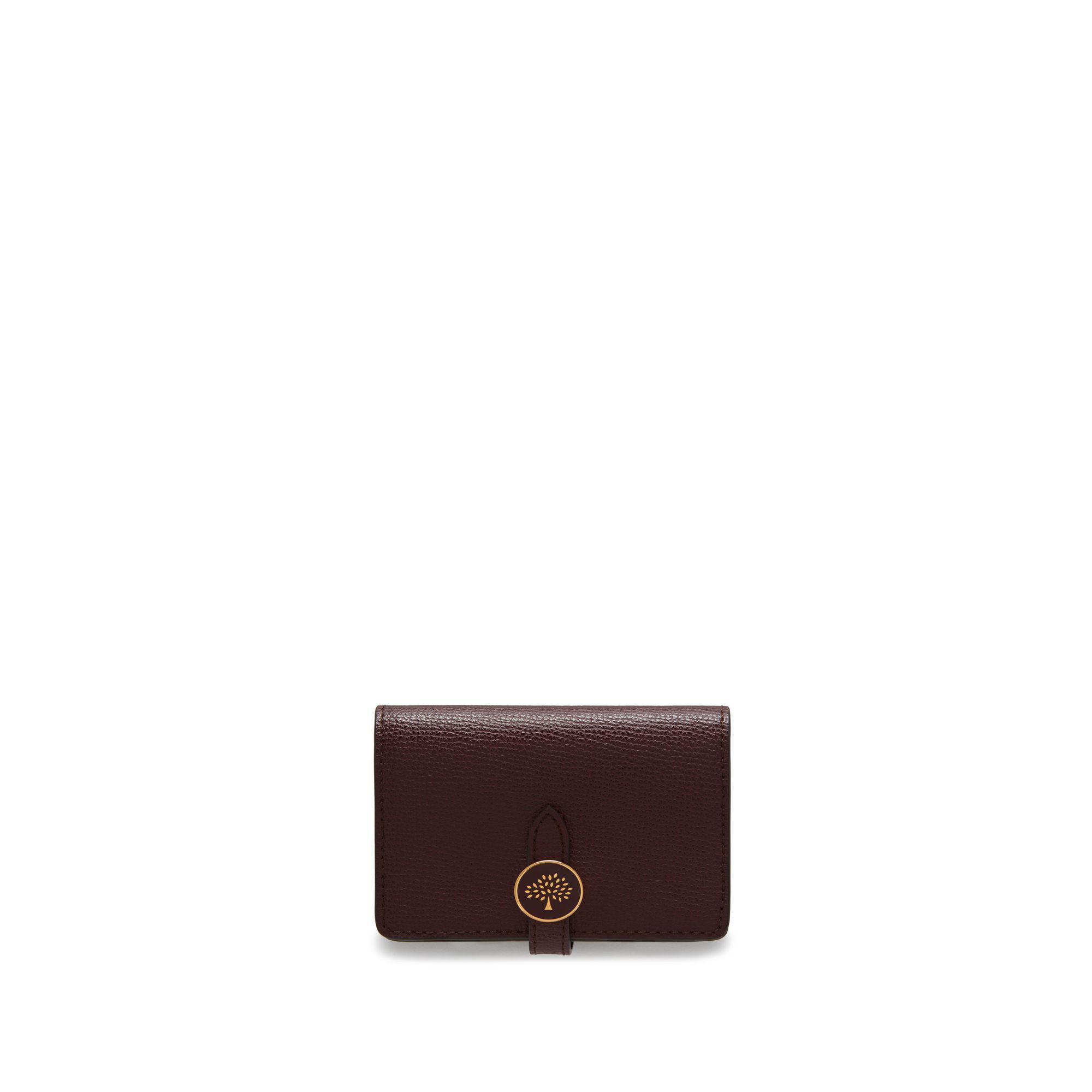 81fff94a6242 Mulberry Tree Card Holder Wallet In Oxblood Cross Grain Leather in ...