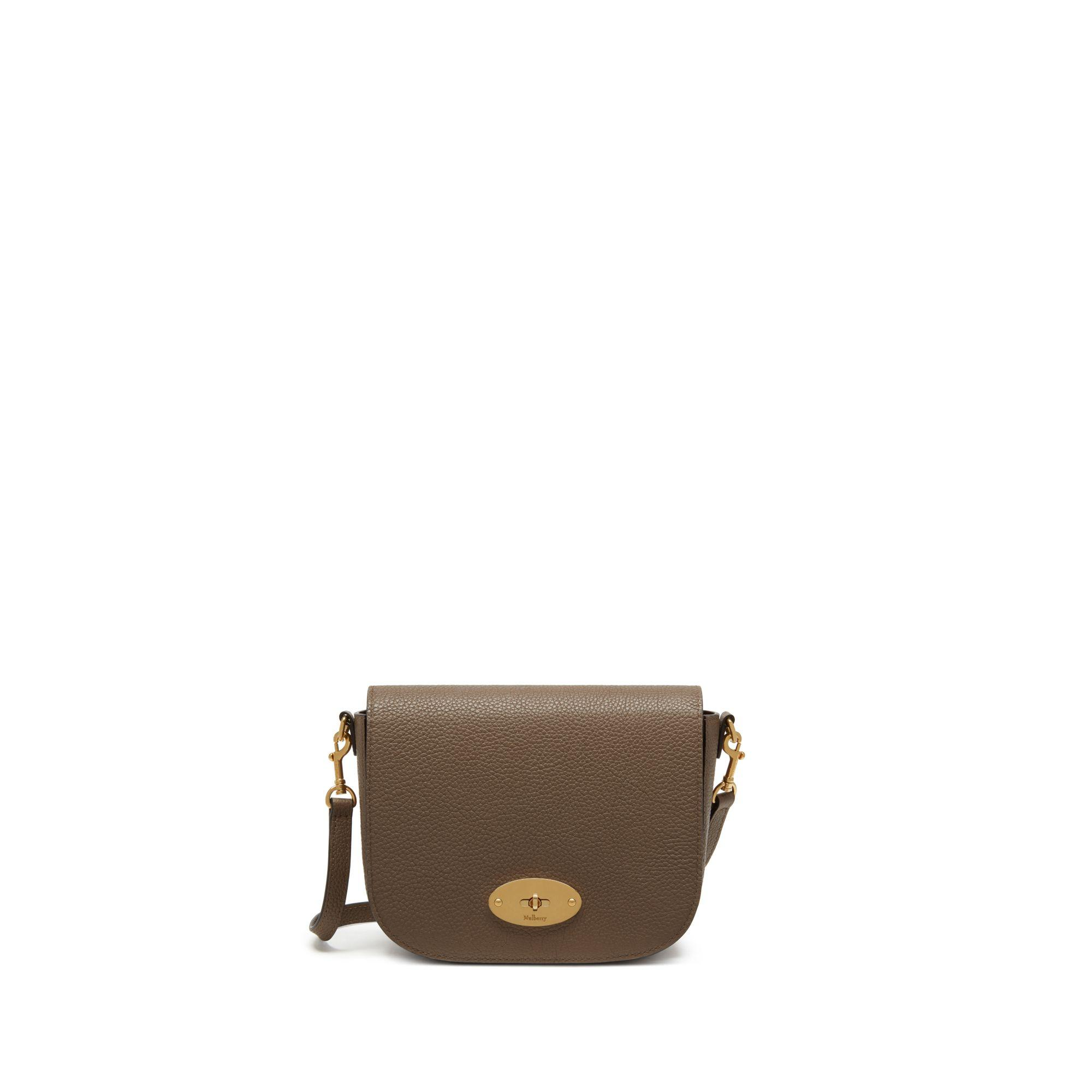 978675bc88 Mulberry Small Darley Satchel In Clay Small Classic Grain in Brown ...