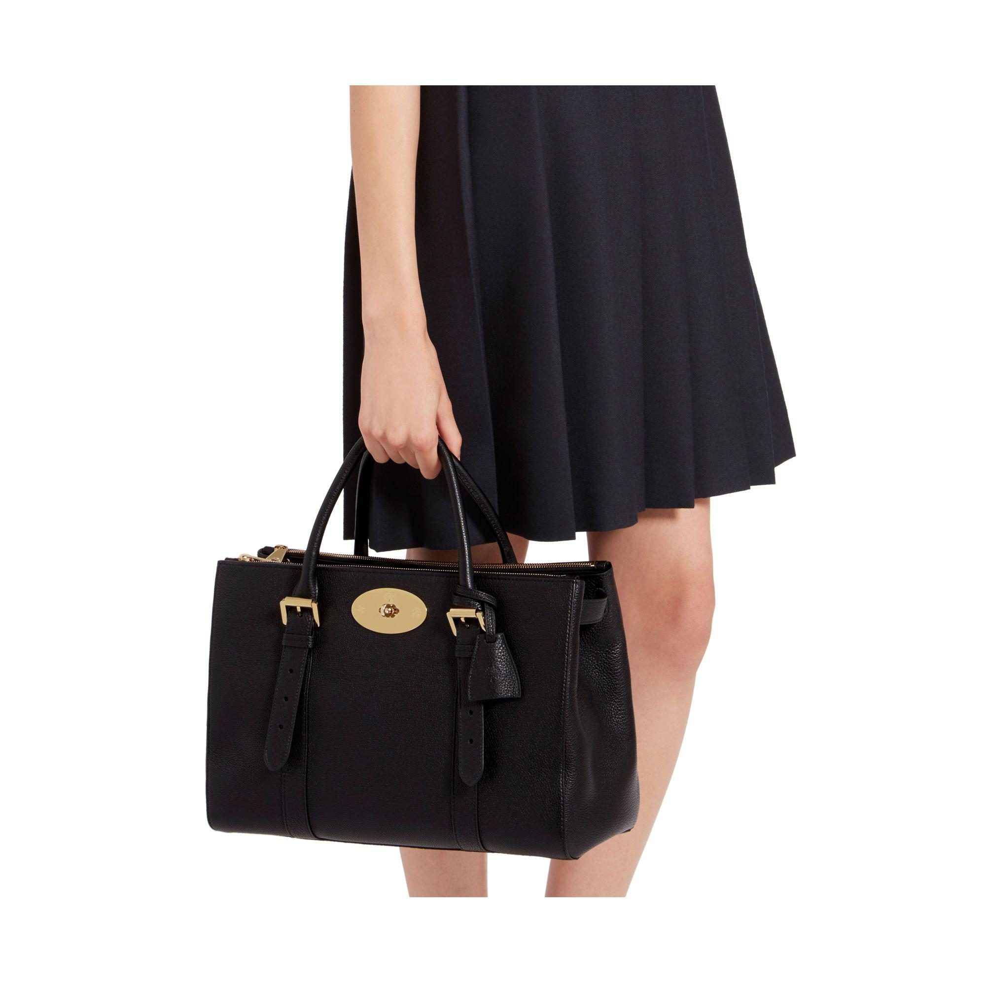 Lyst - Mulberry Bayswater Double Zip Tote Bag in Black cc59b53985678