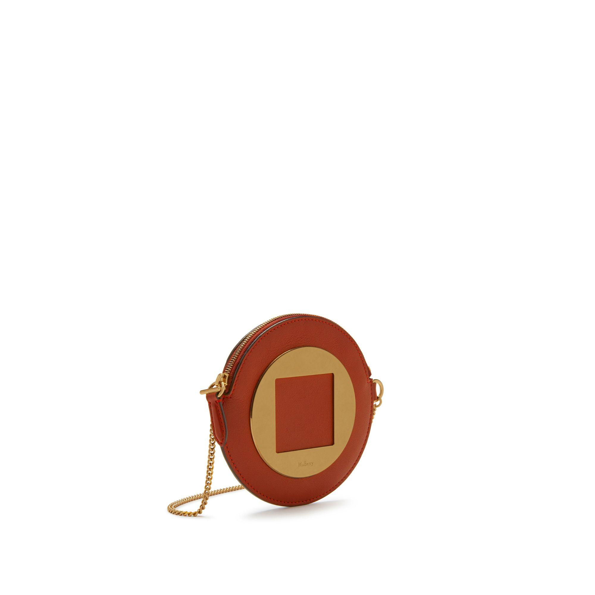 6eec141c959c Mulberry - Small Roundabout Purse In Red Ochre Silky Calf - Lyst. View  fullscreen