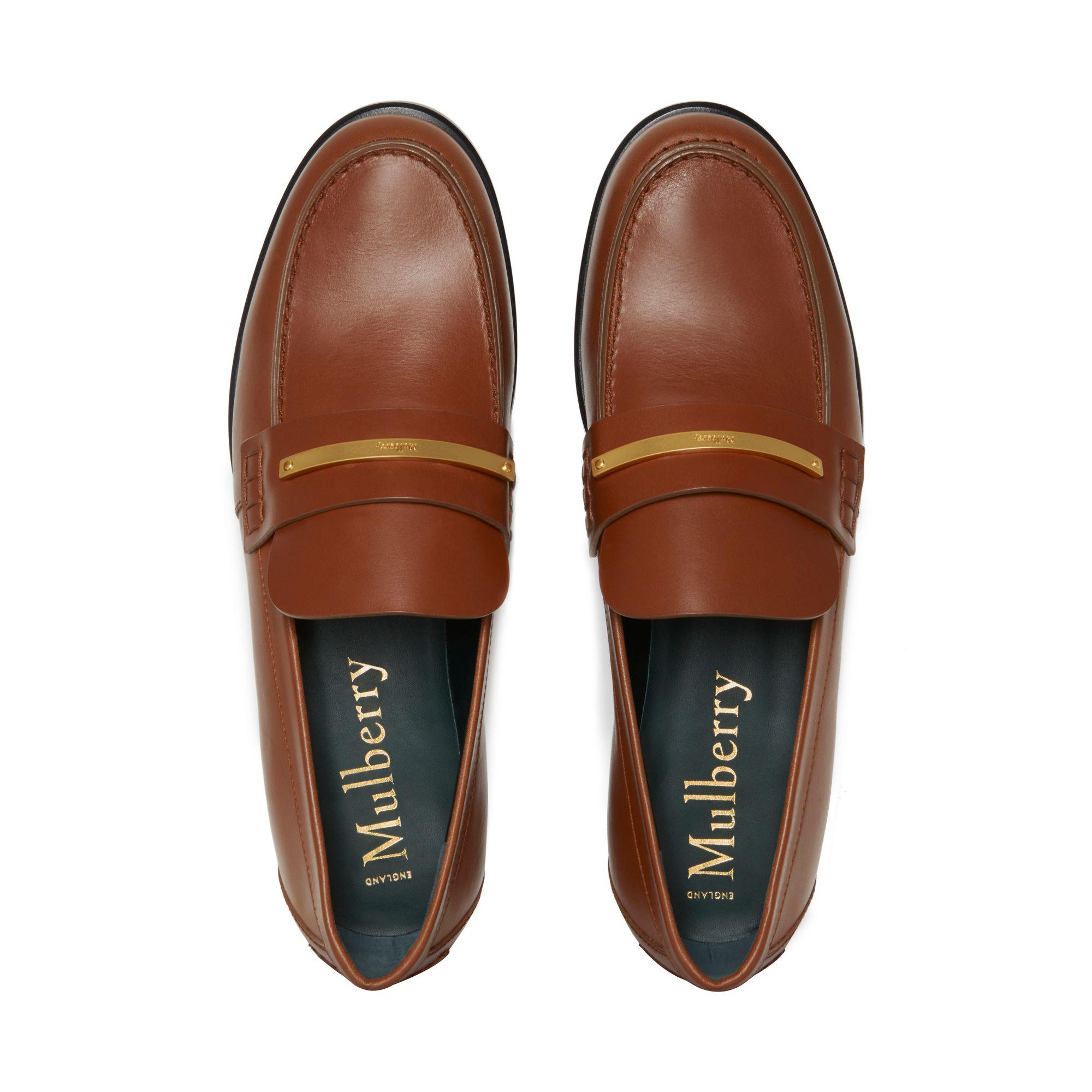 4201610b0cd Lyst - Mulberry Cambridge Bar Loafer in Brown