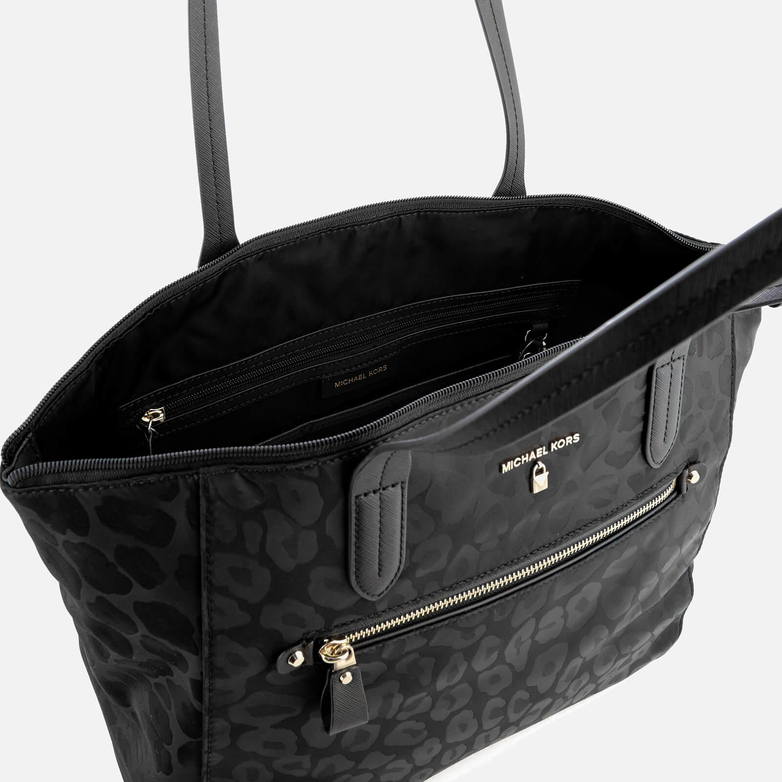 03c3bdda76fb MICHAEL Michael Kors Kelsey Large Top Zip Tote Bag in Black - Lyst