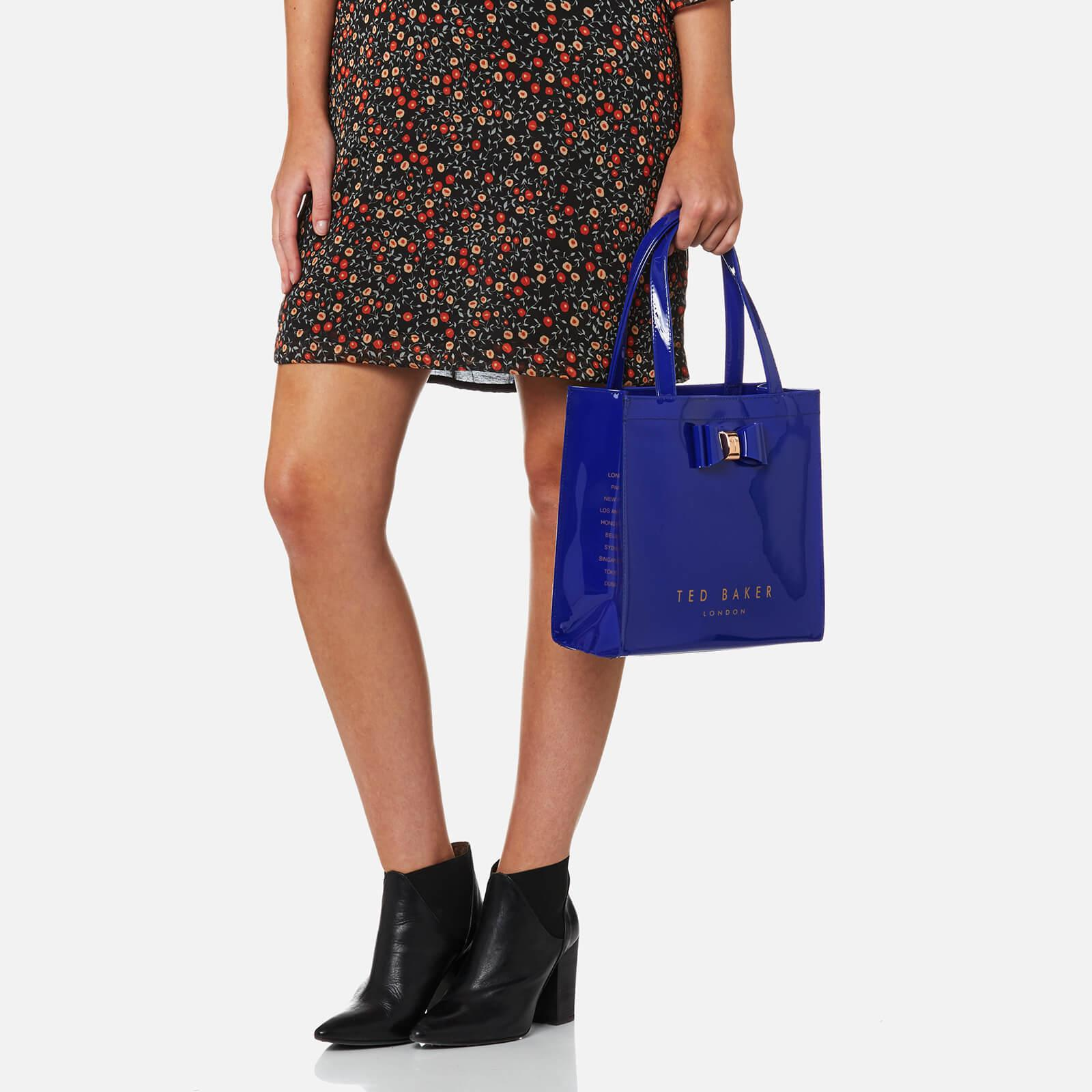 6d99bdc45e0c Lyst - Ted Baker Jenacon Bow Detail Small Icon Bag in Blue