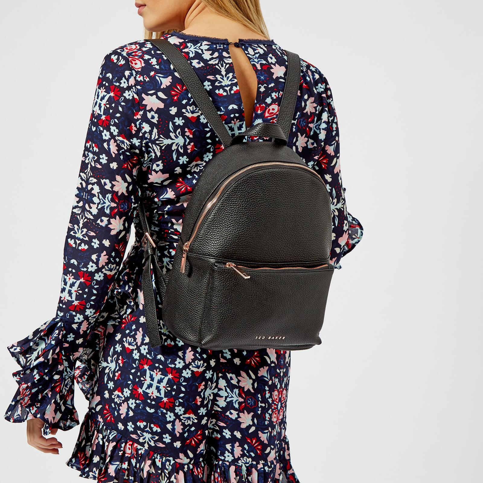 60d666c72 Ted Baker Pearen Soft Grain Backpack in Black - Lyst