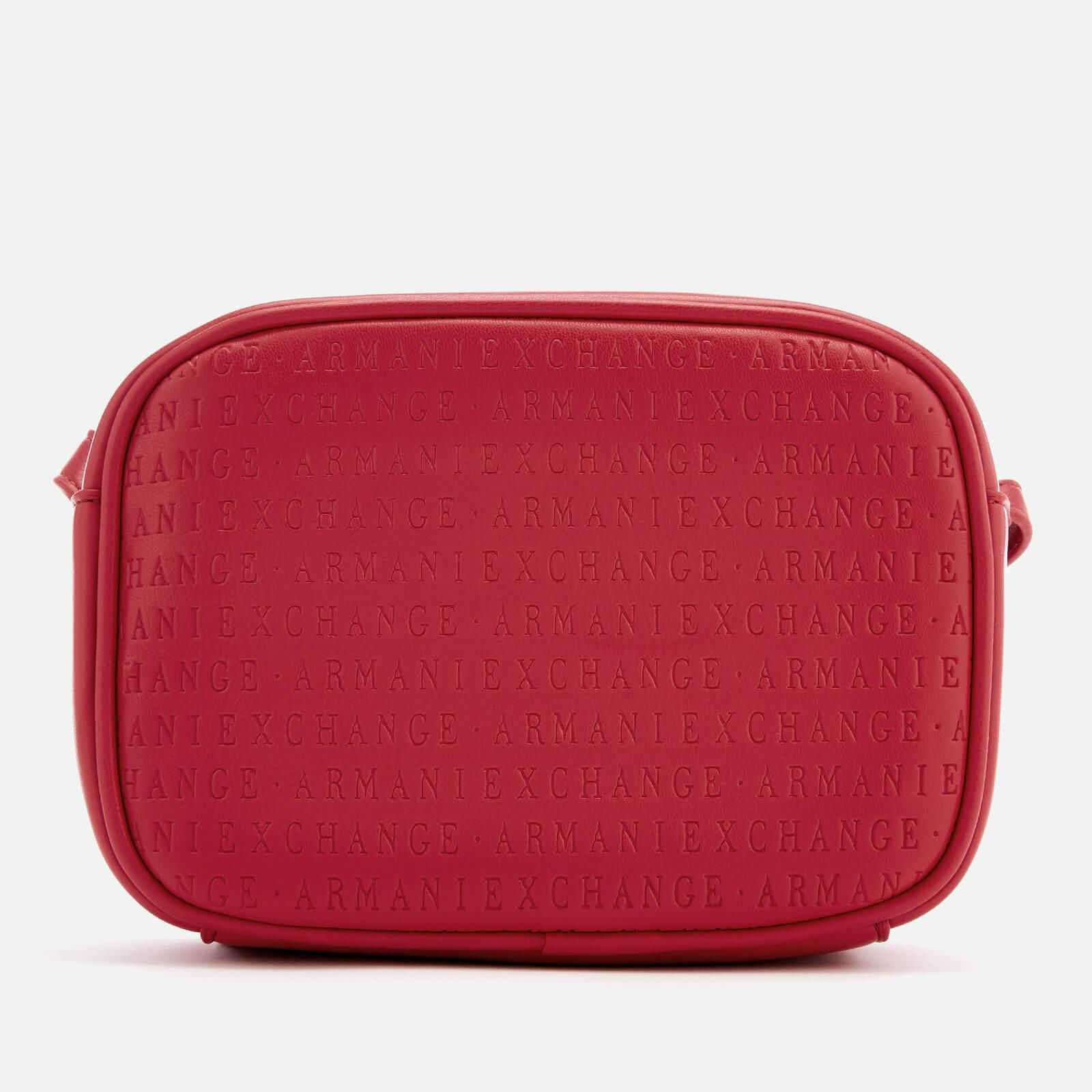 Armani Exchange All Over Logo Embossed Cross Body Bag in Red - Lyst a63def0436915