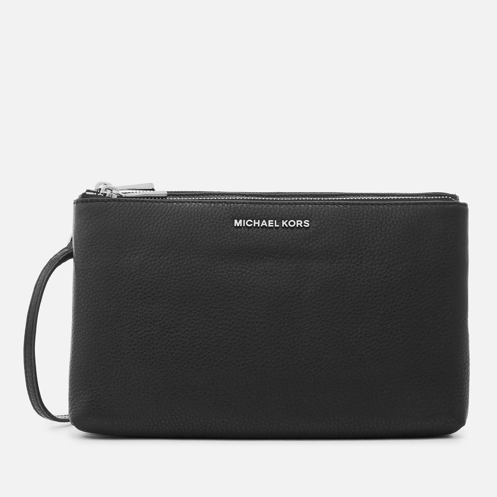 485eff92fce4 Michael Michael Kors Adele Double Zip Cross Body Bag in Black - Lyst