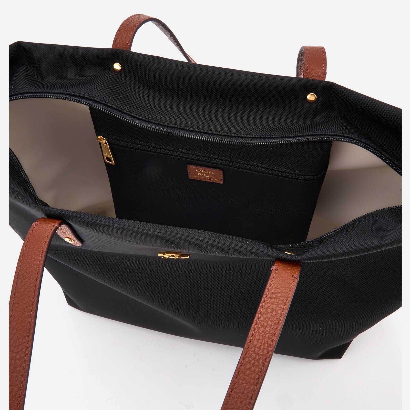 ccab302fea ... inexpensive lauren by ralph lauren bainbridge tote bag in black lyst  eec9b 7fc5e