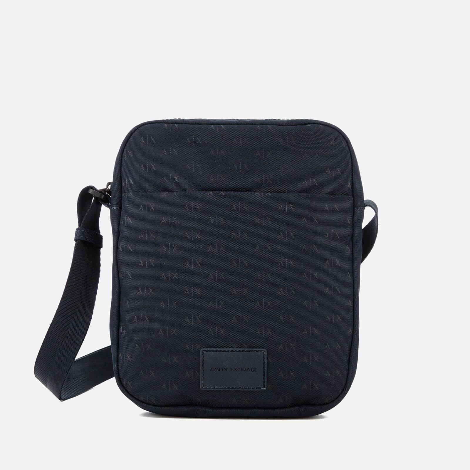 0d1800701a13 Armani Exchange Ax All Over Logo Cross Body Bag in Blue for Men - Lyst