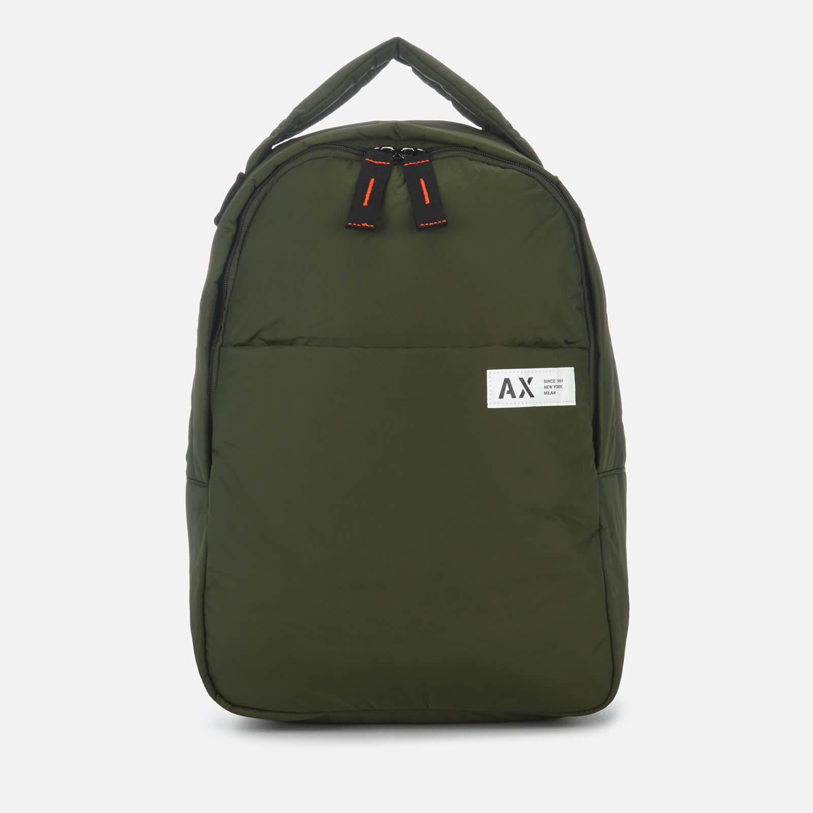 95e48305cd5 Lyst - Armani Exchange Padded Nylon Backpack in Green for Men