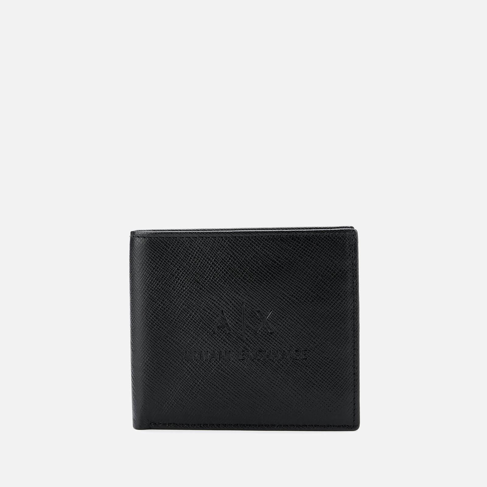 the best attitude 65ddc 3c435 Men's Black Ax Logo Bifold Wallet With Credit Card Holder