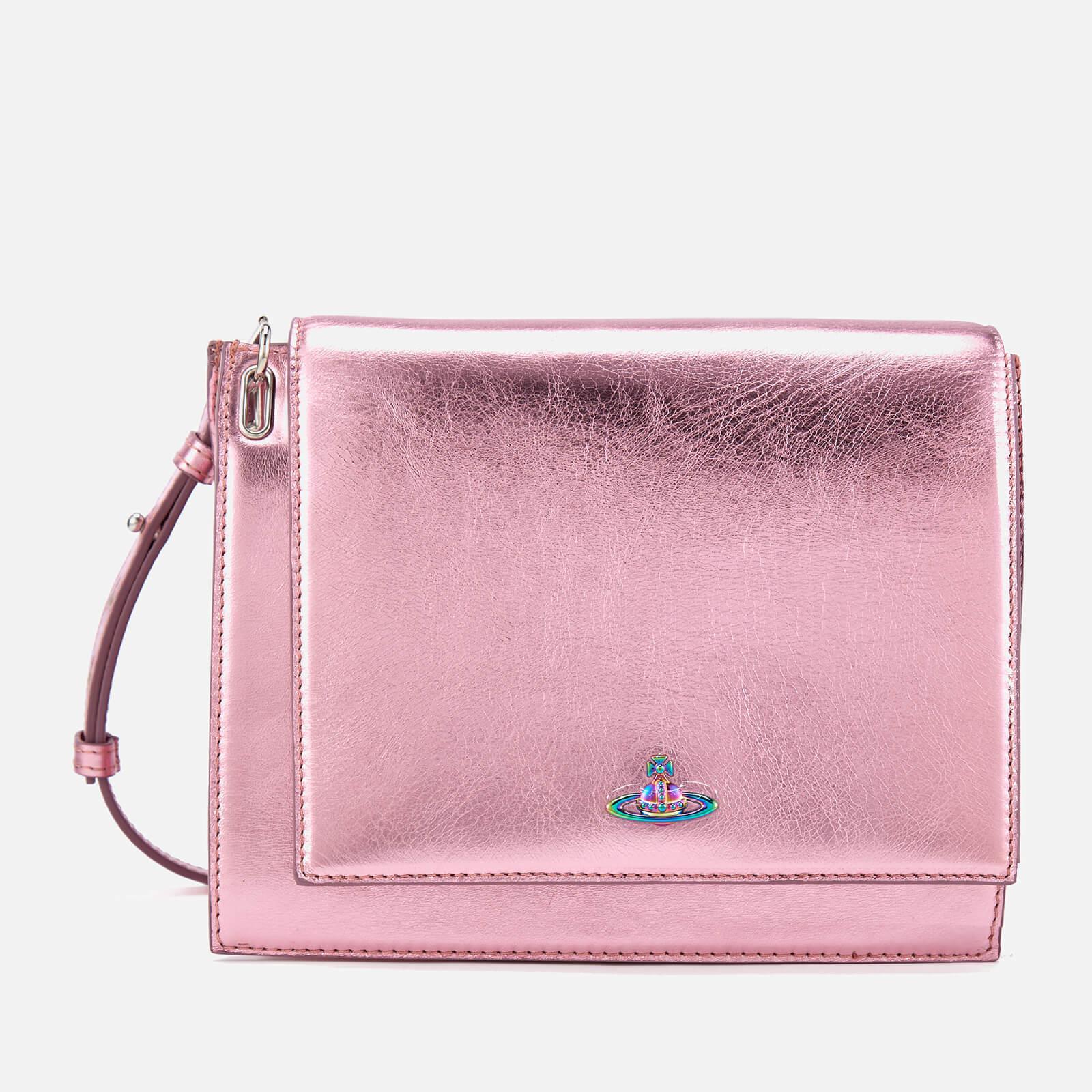 7161908e94e8 Vivienne Westwood Women s Venice Metallic Cross Body Bag in Pink - Lyst