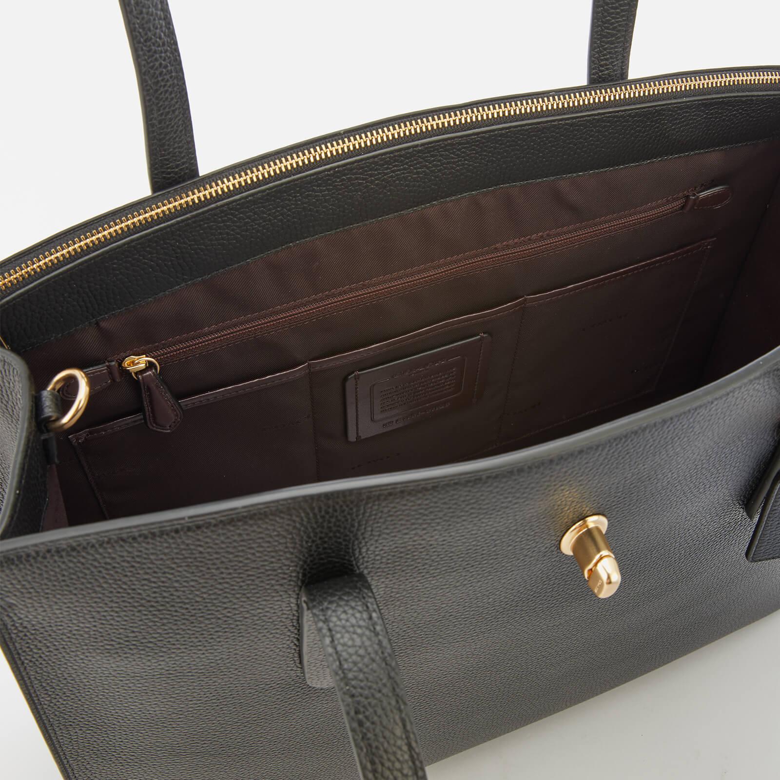 a2c2bb234c672 COACH Turnlock Charlie Carryall Bag in Black - Lyst