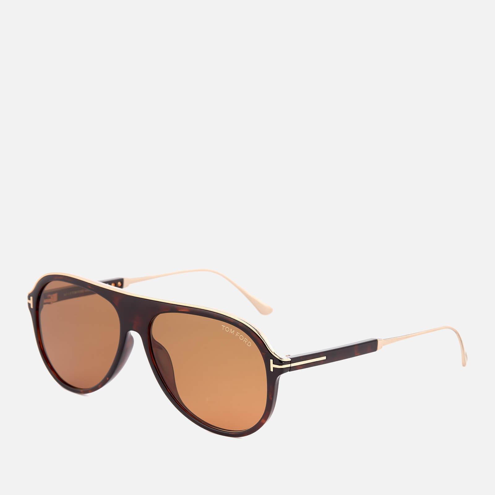c1947f1e0ab Tom Ford - Brown Nicholai Aviator Sunglasses for Men - Lyst. View fullscreen