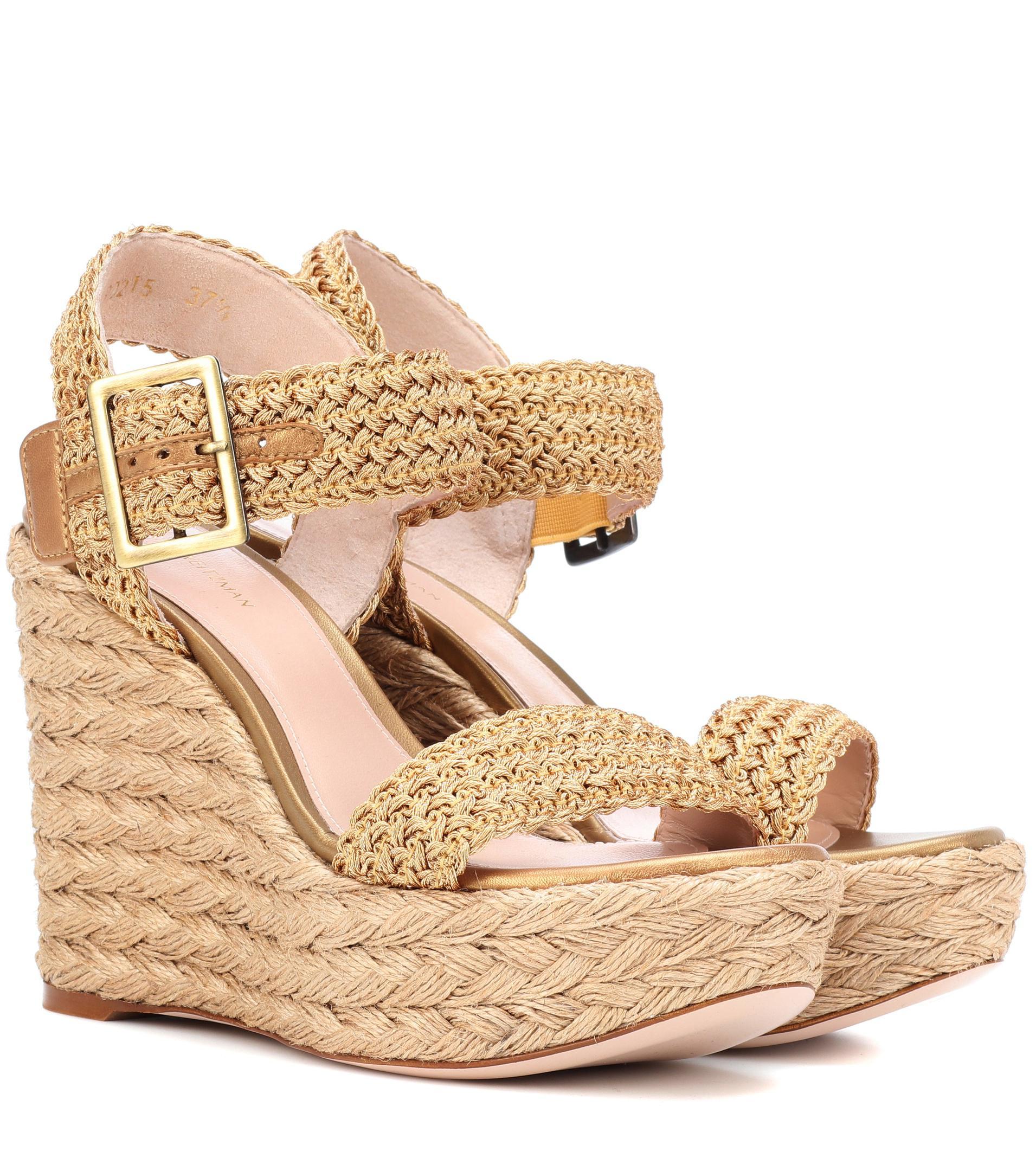 Stuart Weitzman Alexis Bingo wedge sandals nEnlkzyT