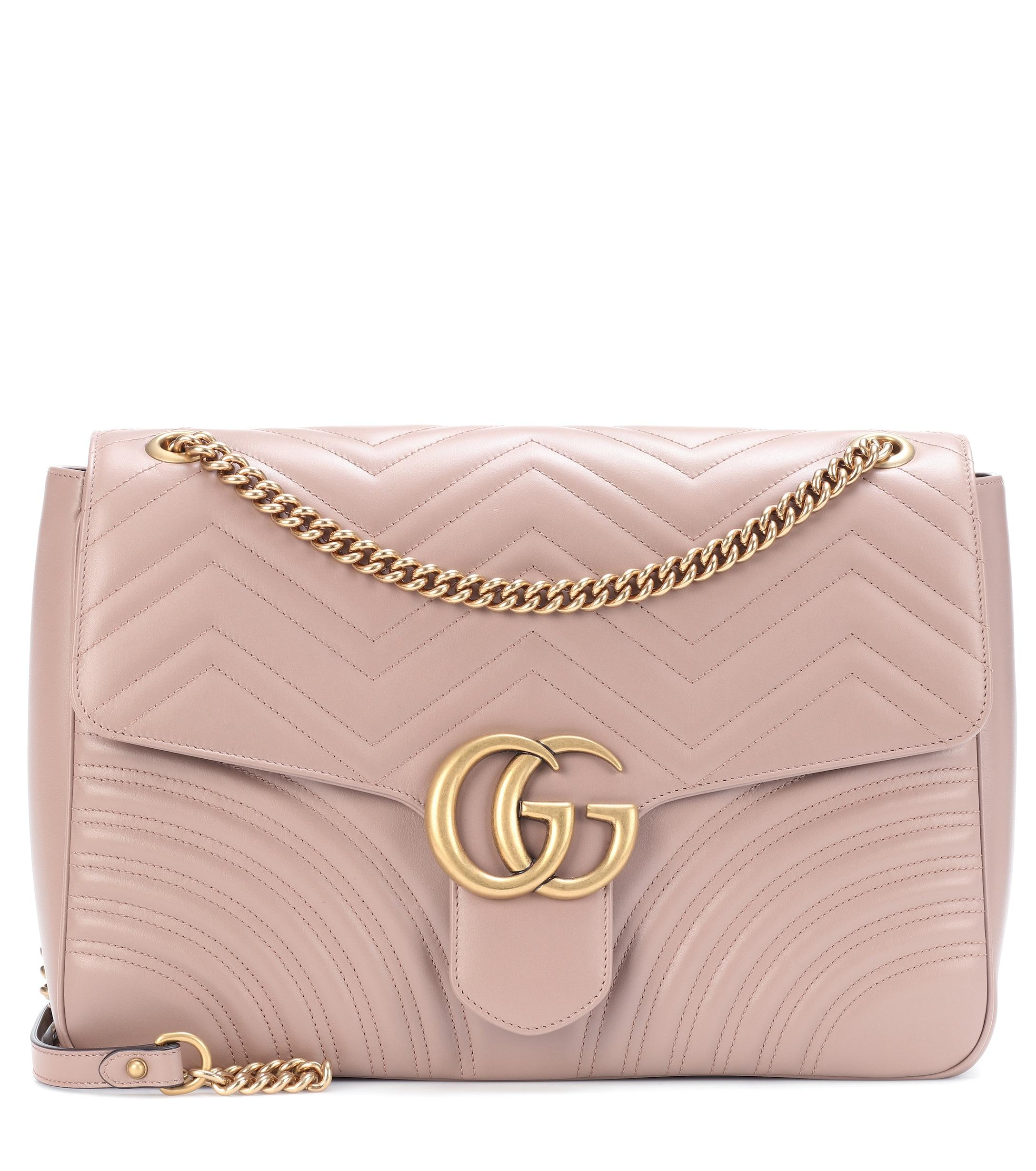 912c9bfb890d0 Lyst - Gucci GG Marmont Large Shoulder Bag in Pink