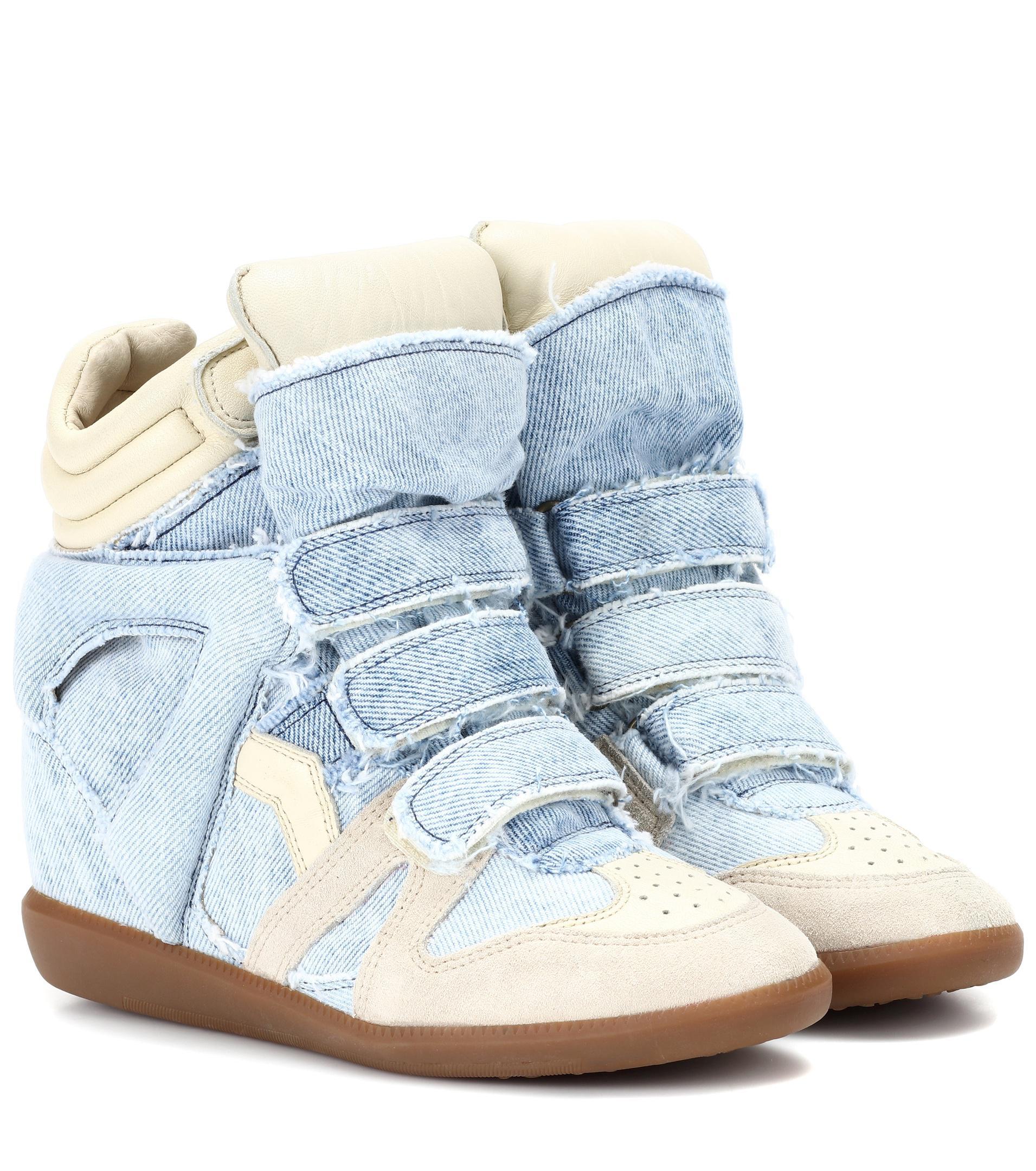 Buckee leather-trim neoprene wedge sneakers Isabel Marant gHIc8c1G