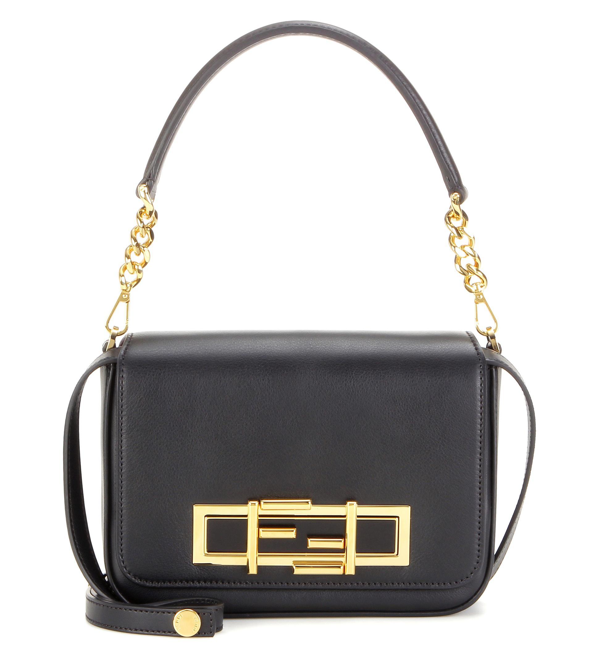 6d0ae5f4a4 Lyst - Fendi 3Baguette Leather Shoulder Bag in Black