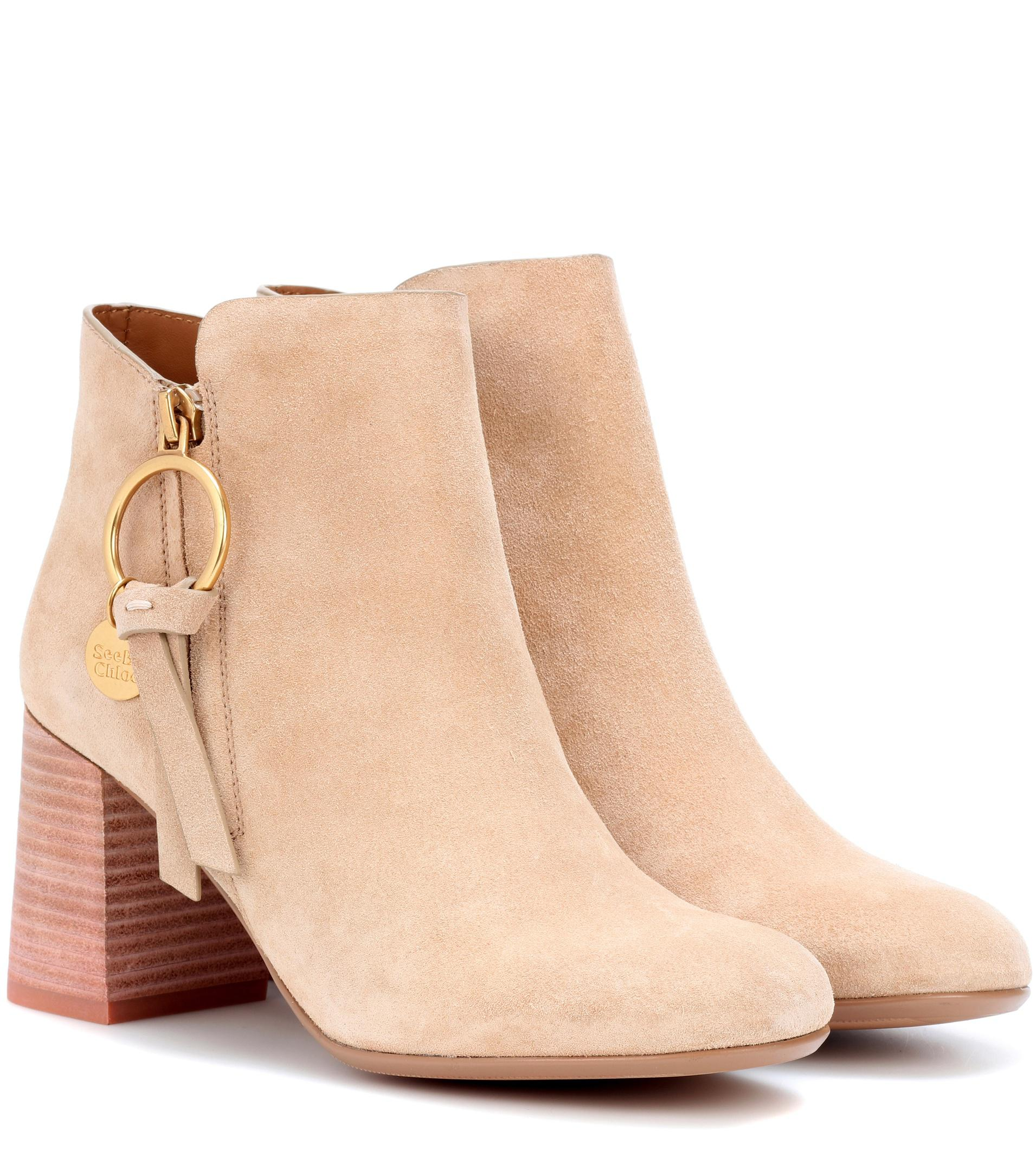 Chloé 40MM SUEDE ANKLE BOOTS W732Nk