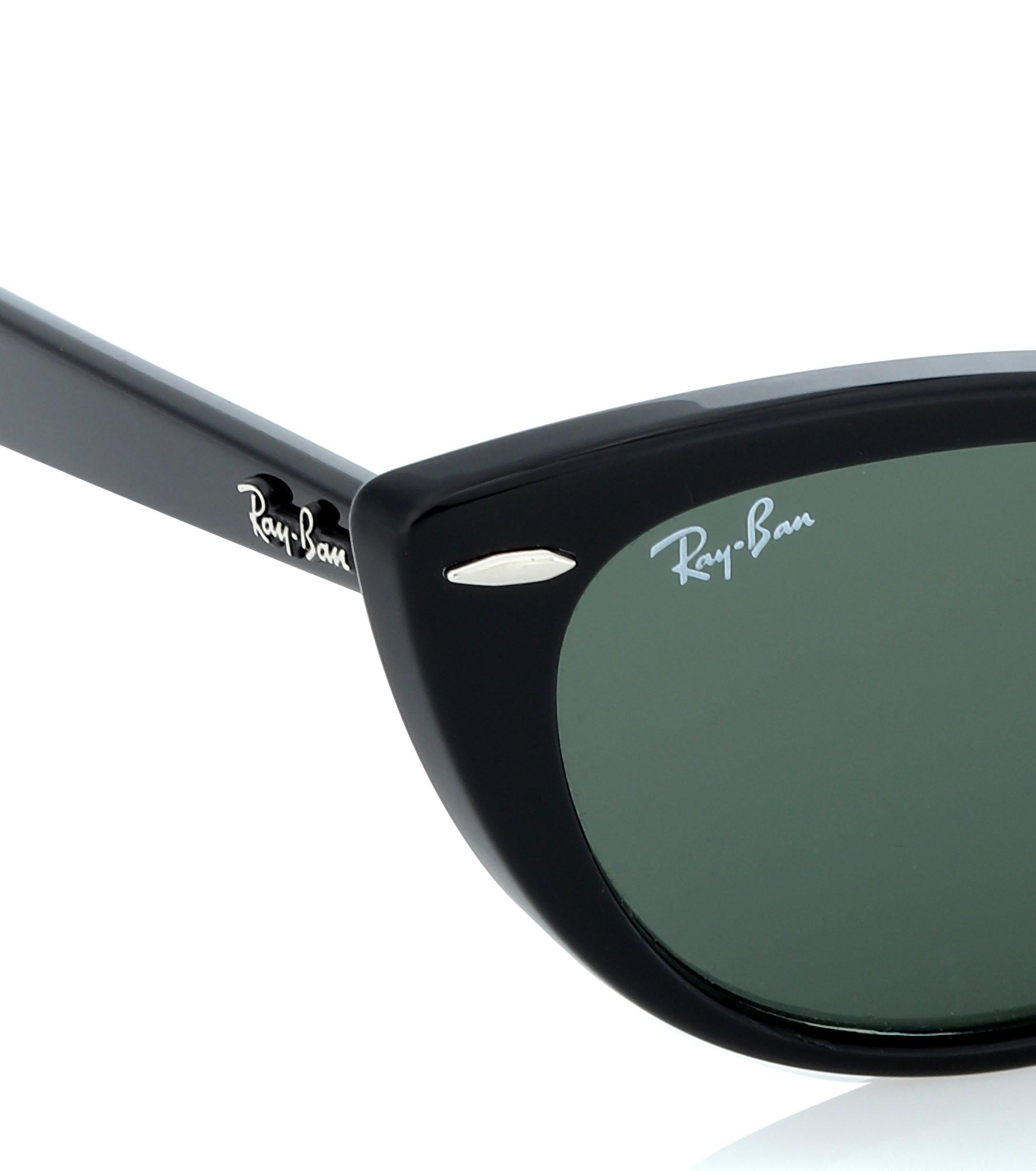 c340b1428422a Ray-Ban - Black Nina Cat-eye Acetate Sunglasses - Lyst. View fullscreen