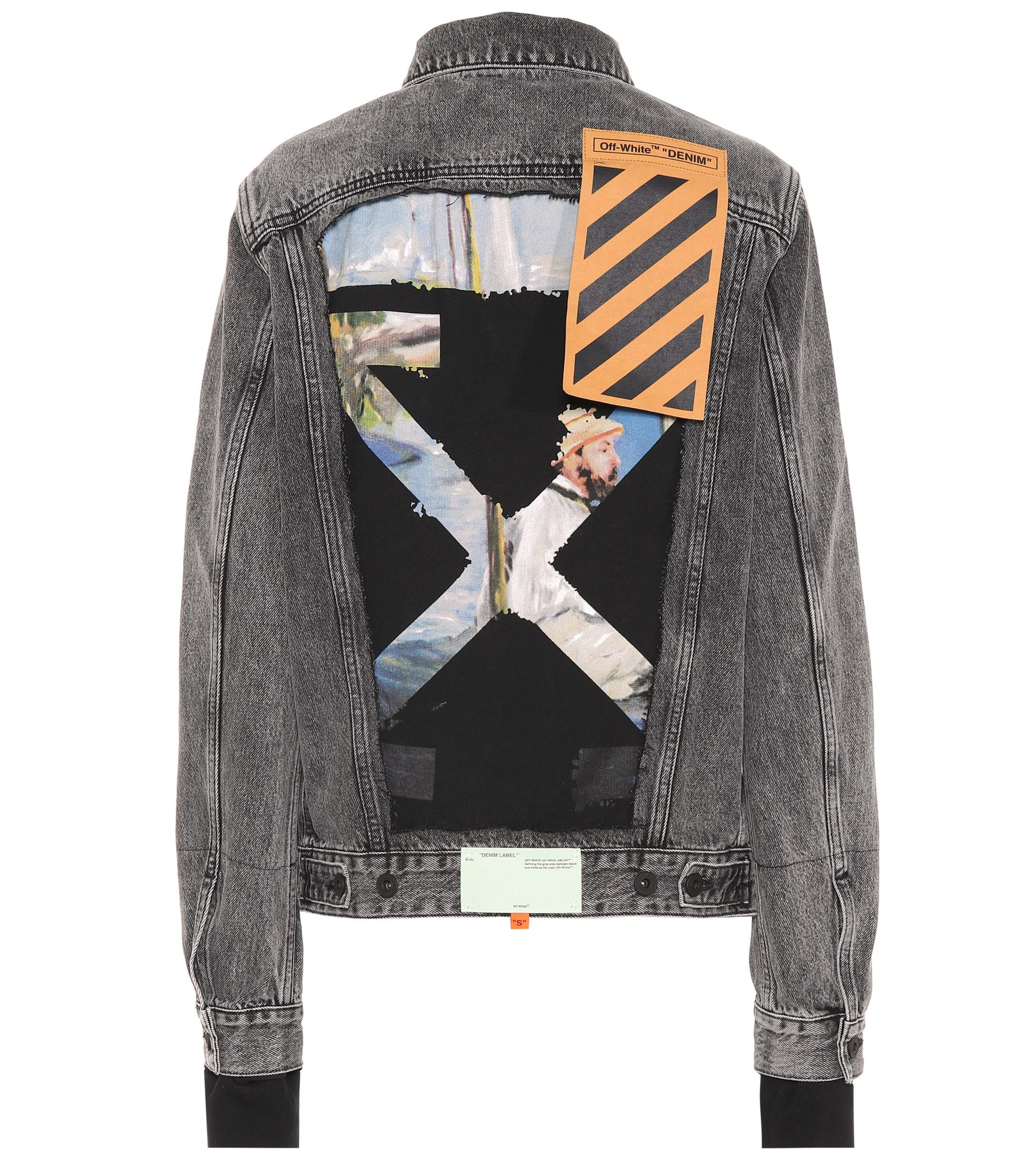 99470ee2d9b8 Lyst - Off-White C O Virgil Abloh Appliquéd Denim Jacket in Gray