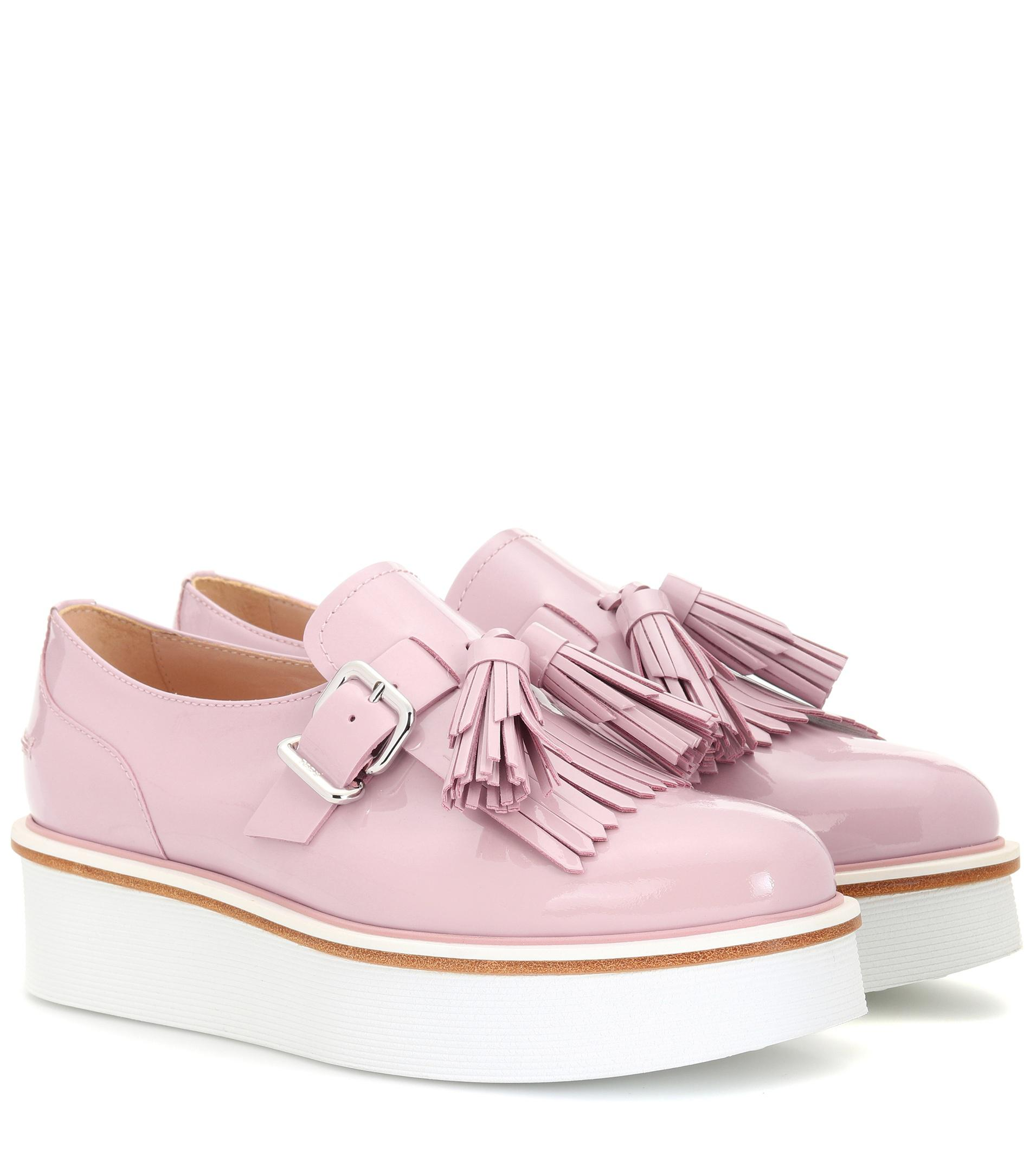 f0a73ed6605 Tod s Leather Platform Loafers in Pink - Lyst