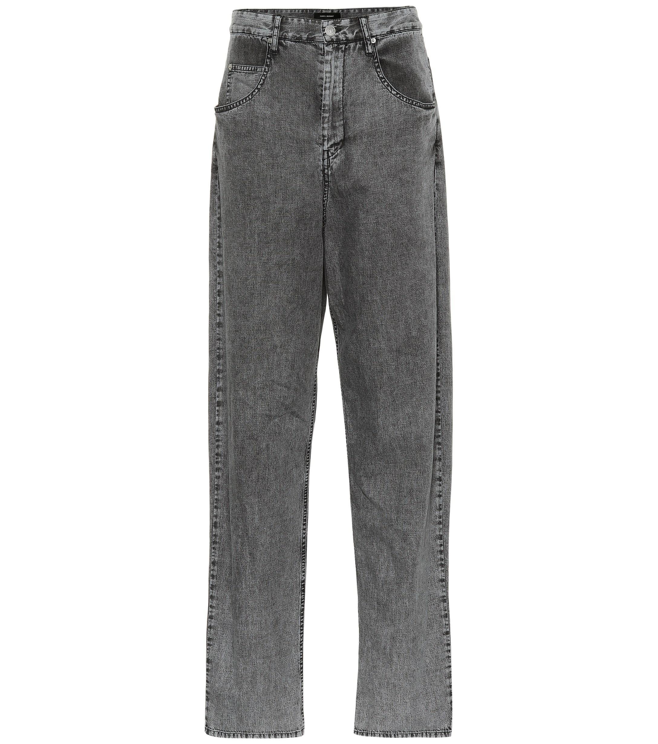 6ce57b9b5bb Isabel Marant Lex High-rise Boyfriend Jeans in Gray - Lyst