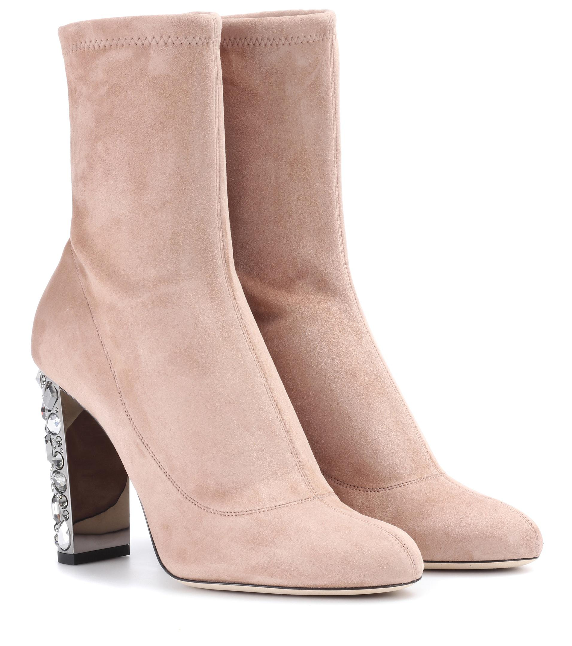 Jimmy Choo. Women's Pink Maine 100 Suede Boots