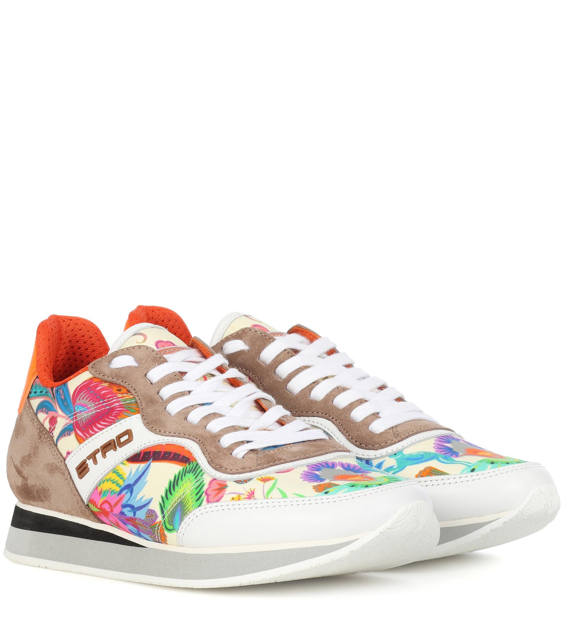 Printed leather sneakers Etro ZFHJC7B