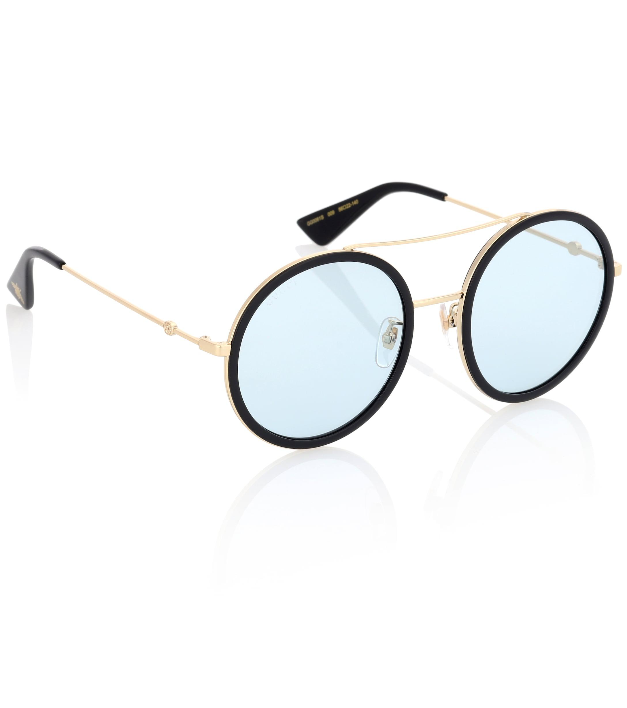 731e4fd9125 Gucci Exclusive To Mytheresa.com – Round Sunglasses in Black - Lyst
