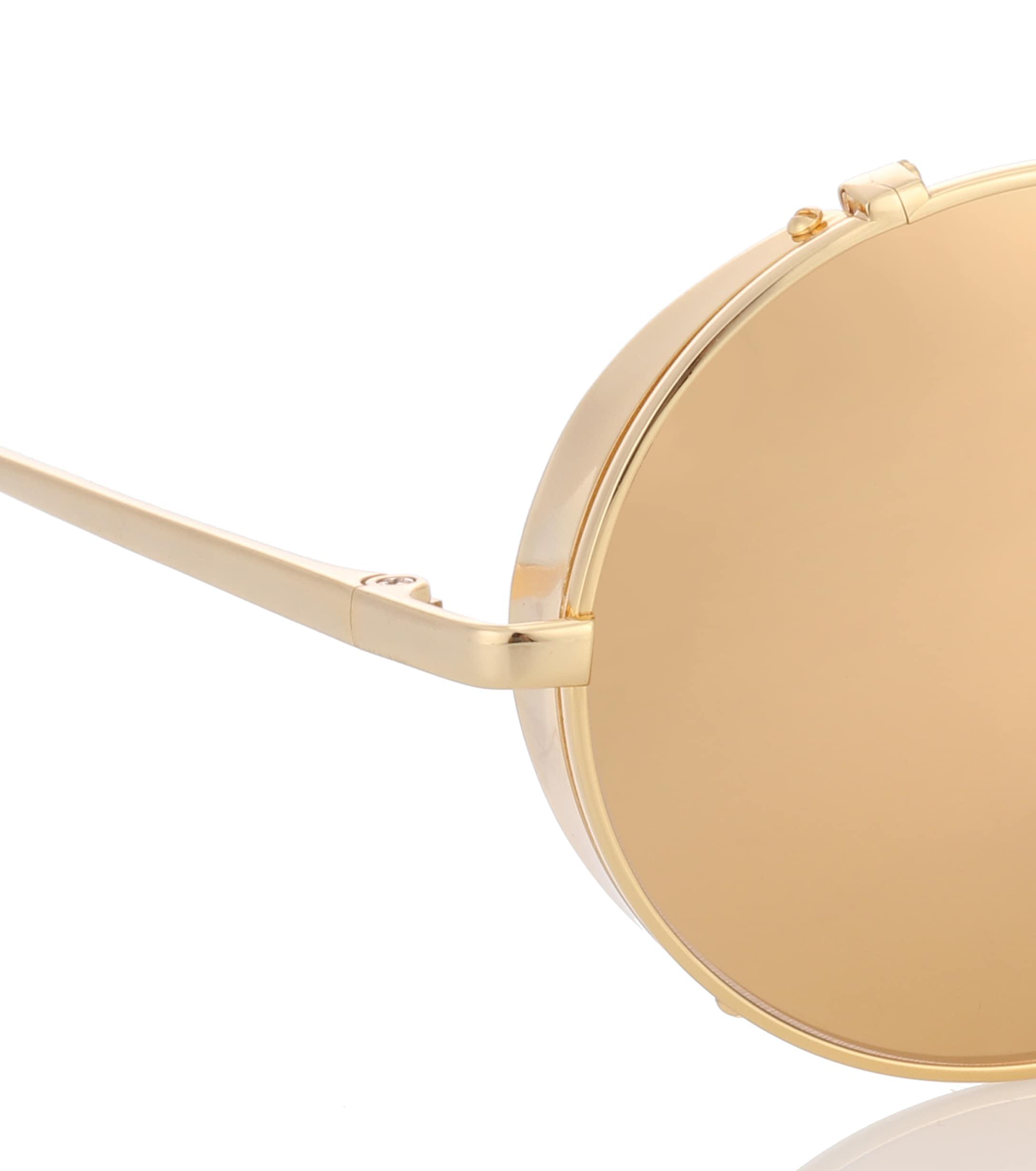 f1b7665fe9 Linda Farrow - Metallic 427 C1 Oval Sunglasses In Yellow Gold - Lyst. View  fullscreen