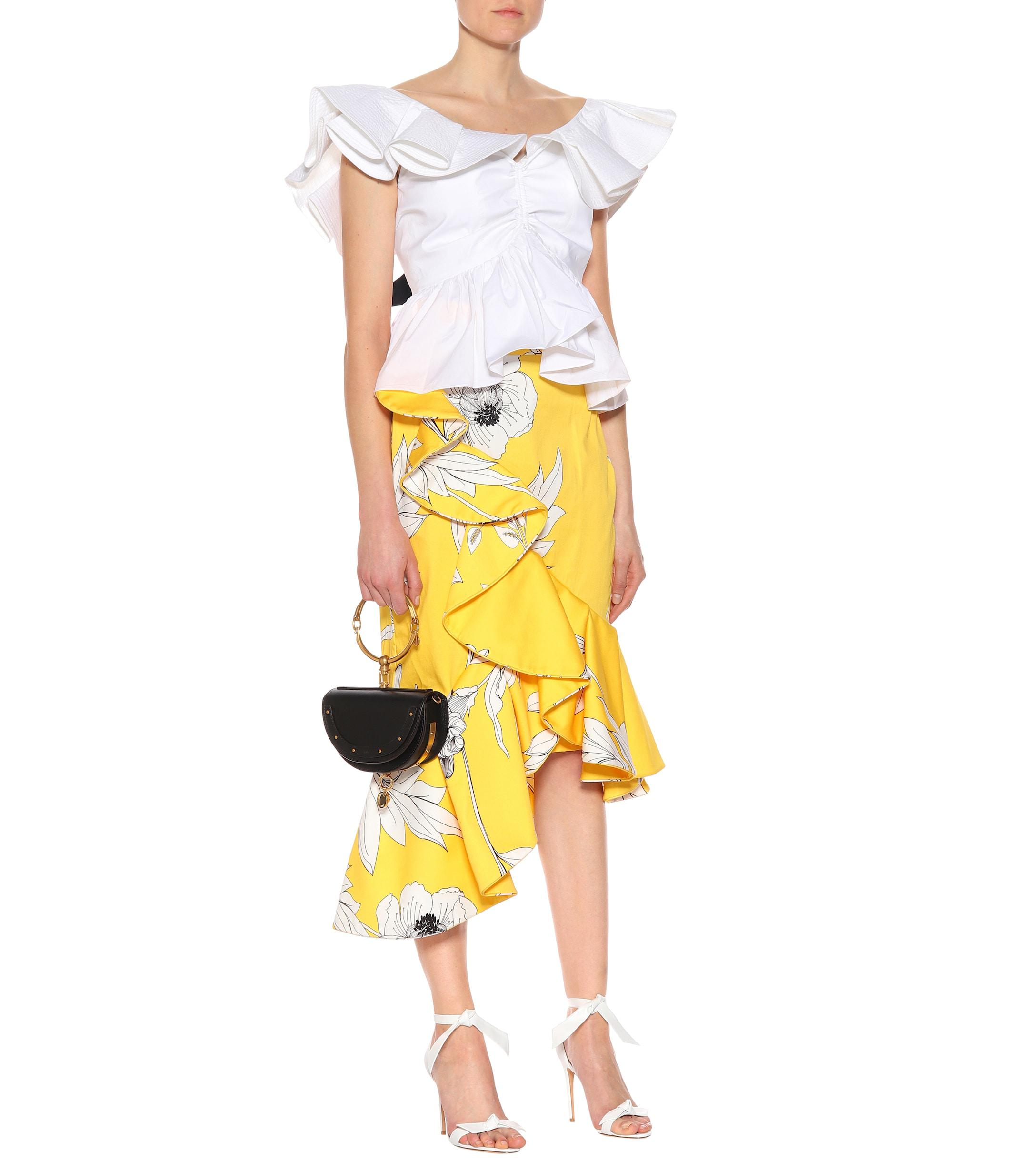 Cotton Striped Tanzania Mytheresa Skirt Gris erdBWCxo