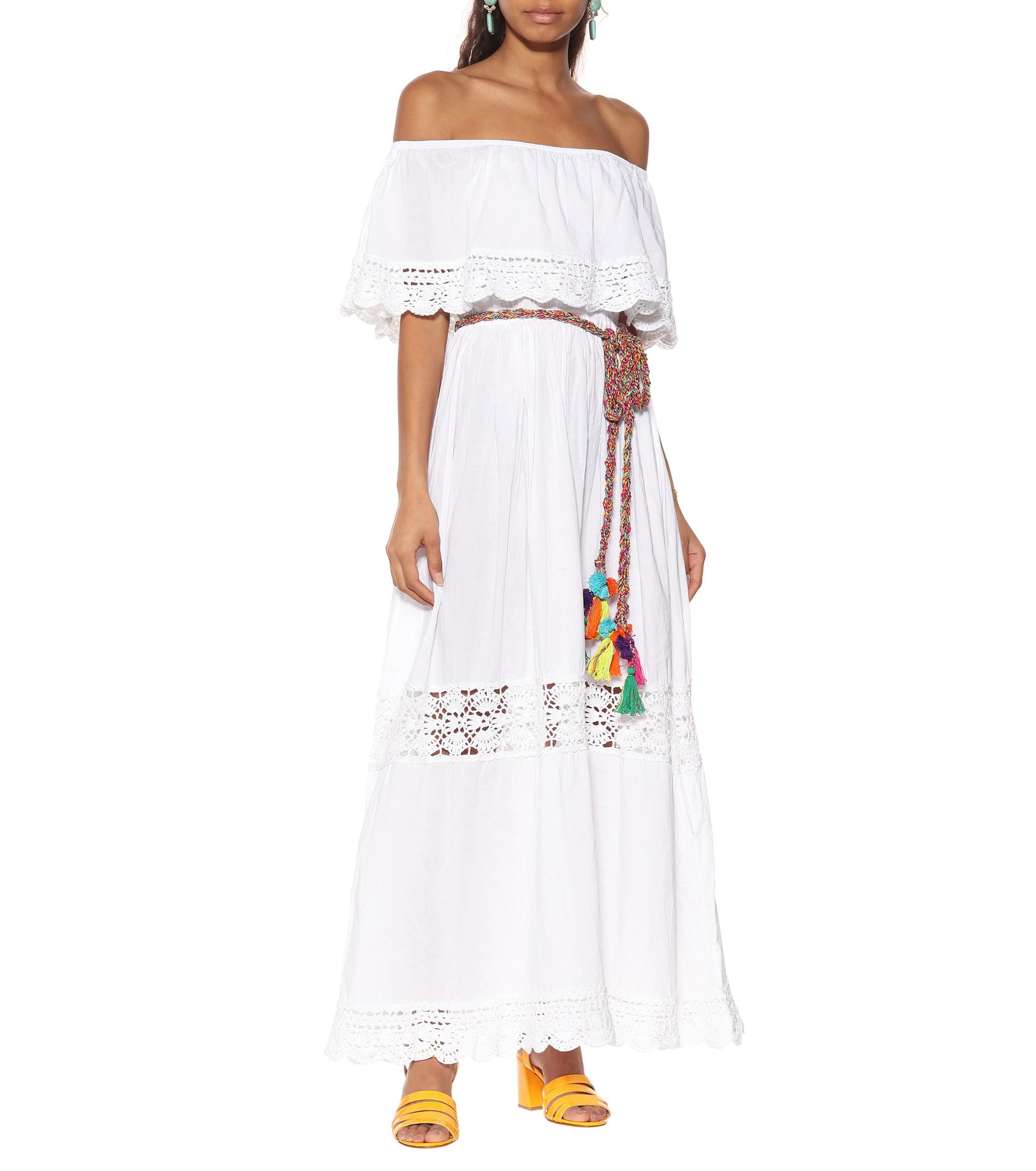 Janessa vestido descubiertos White hombros Lyst con Anna Kosturova pqnEvxwxSt