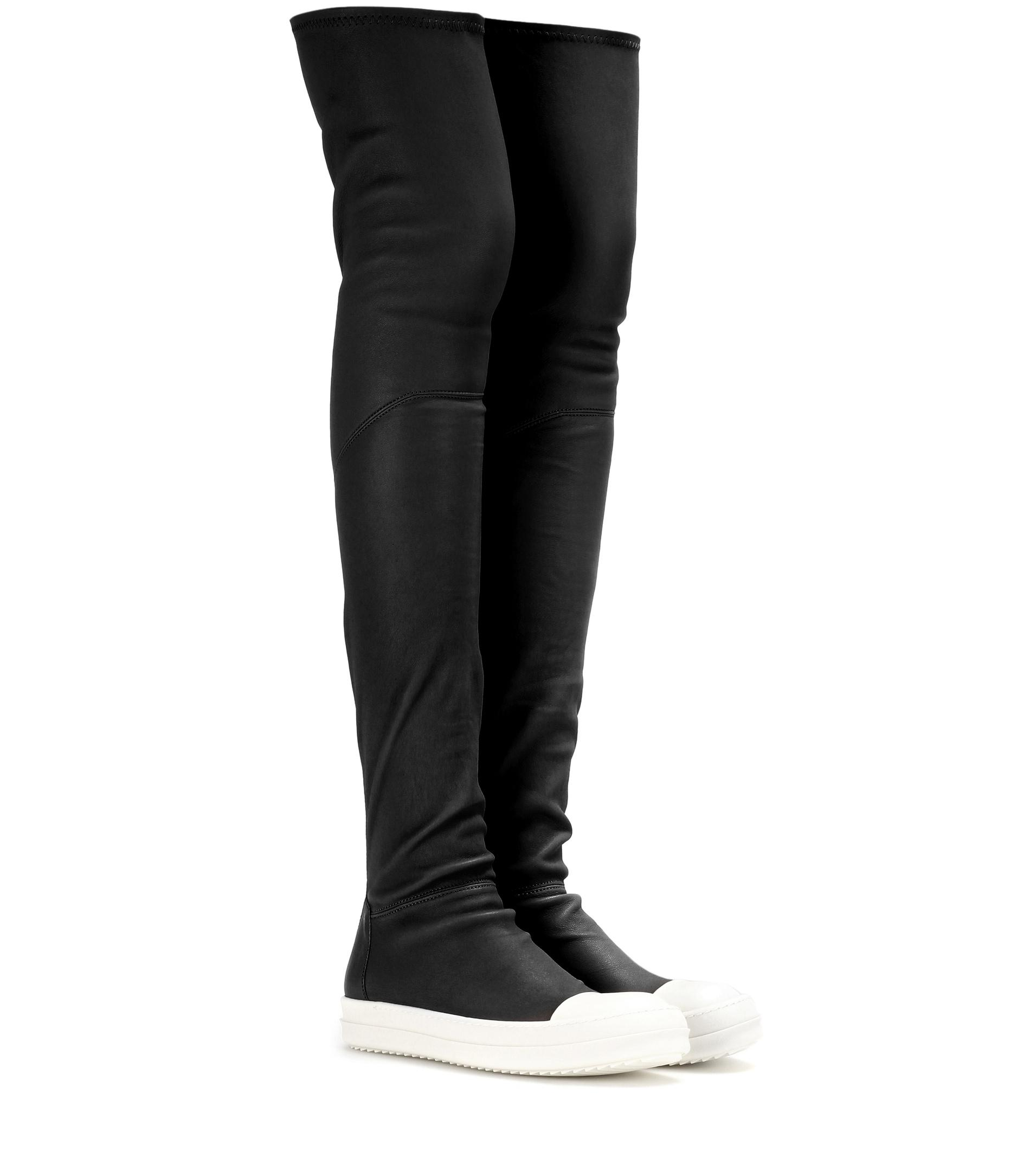 Rick Owens Over-the-knee leather sneakers n9LFebfb
