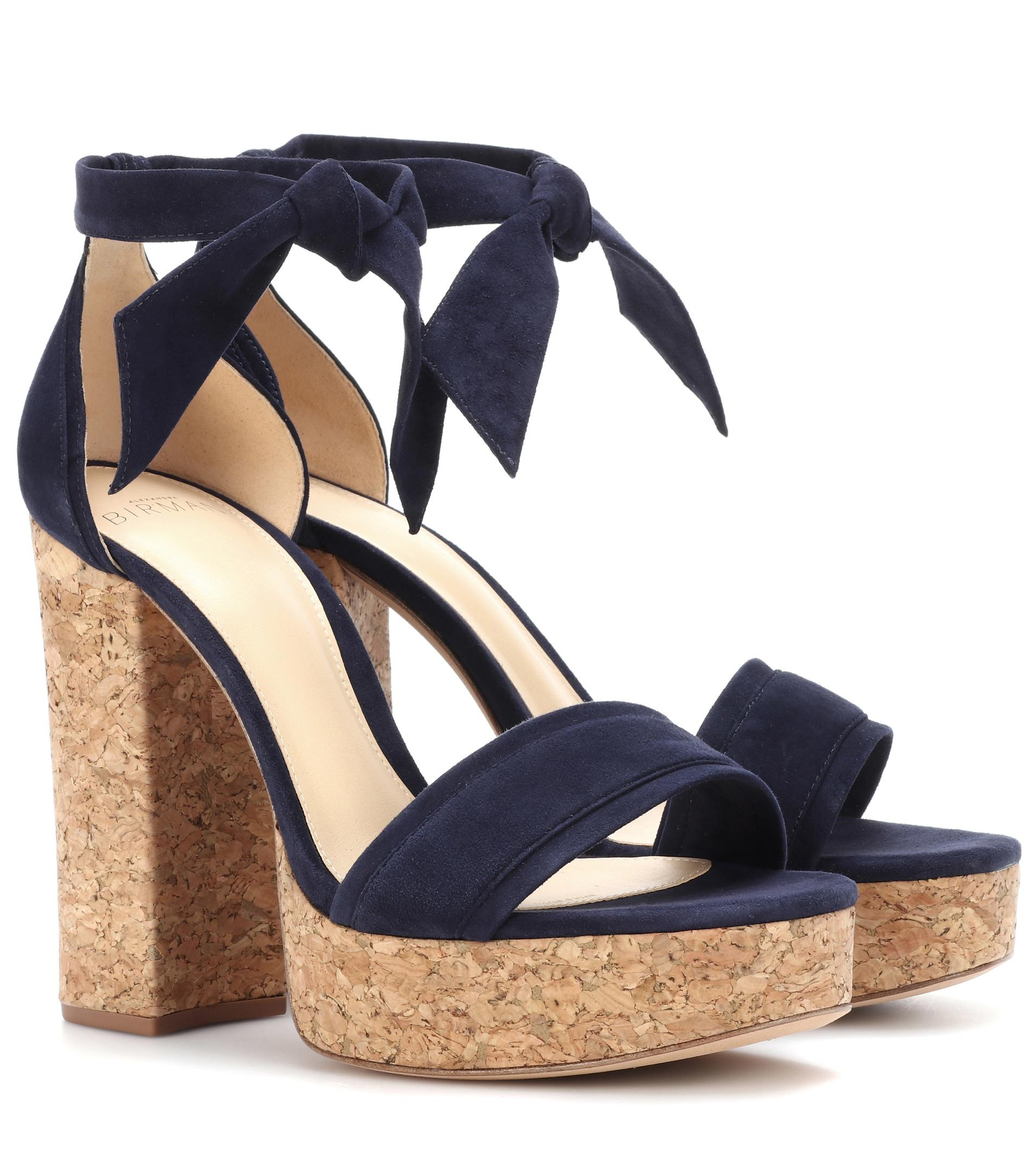 Celine velvet plateau sandals Alexandre Birman roaIYFL