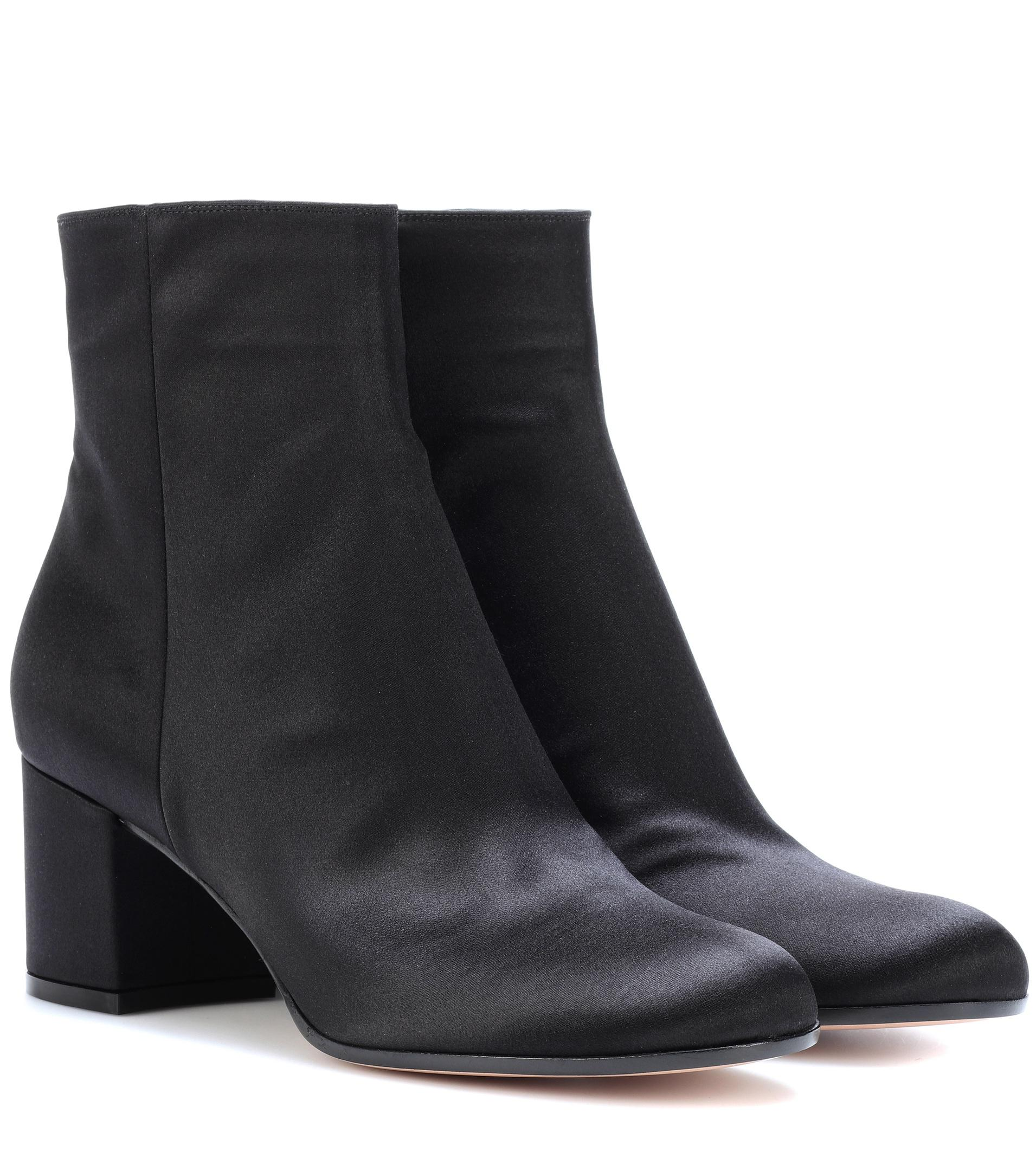 Gianvito Rossi Margaux Mid satin ankle boots ZuSPnRR6Tr