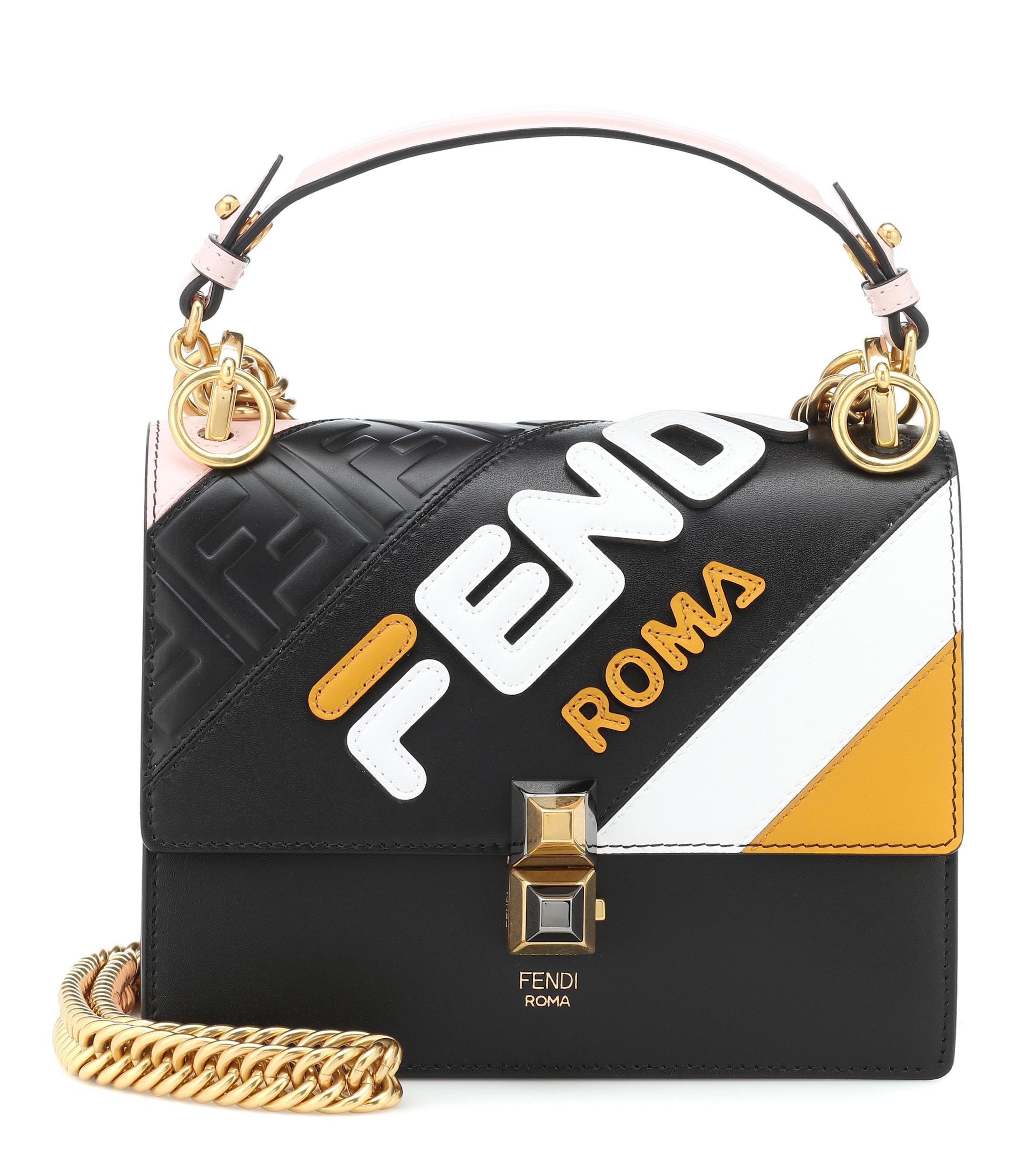 de09e8689e61 Fendi. Women s Mania Kan I Mini Leather Shoulder Bag