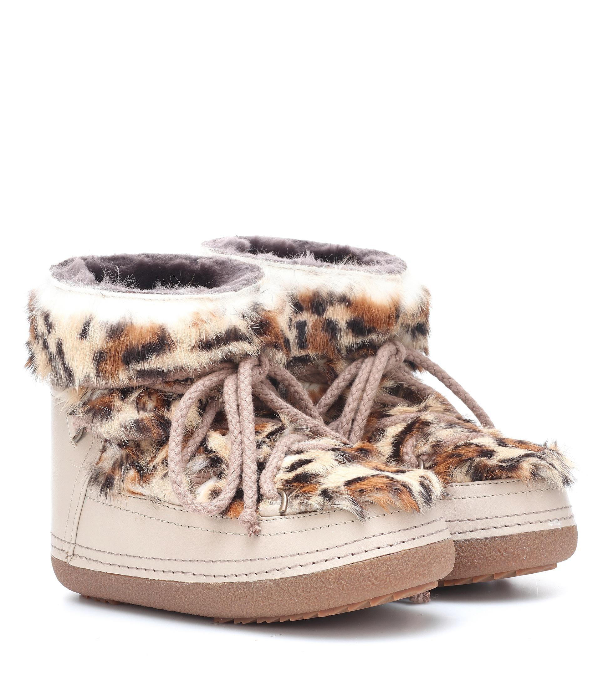 7da16c4ba6b4 Inuikii Classic Low Fur-trimmed Boots in Natural - Lyst