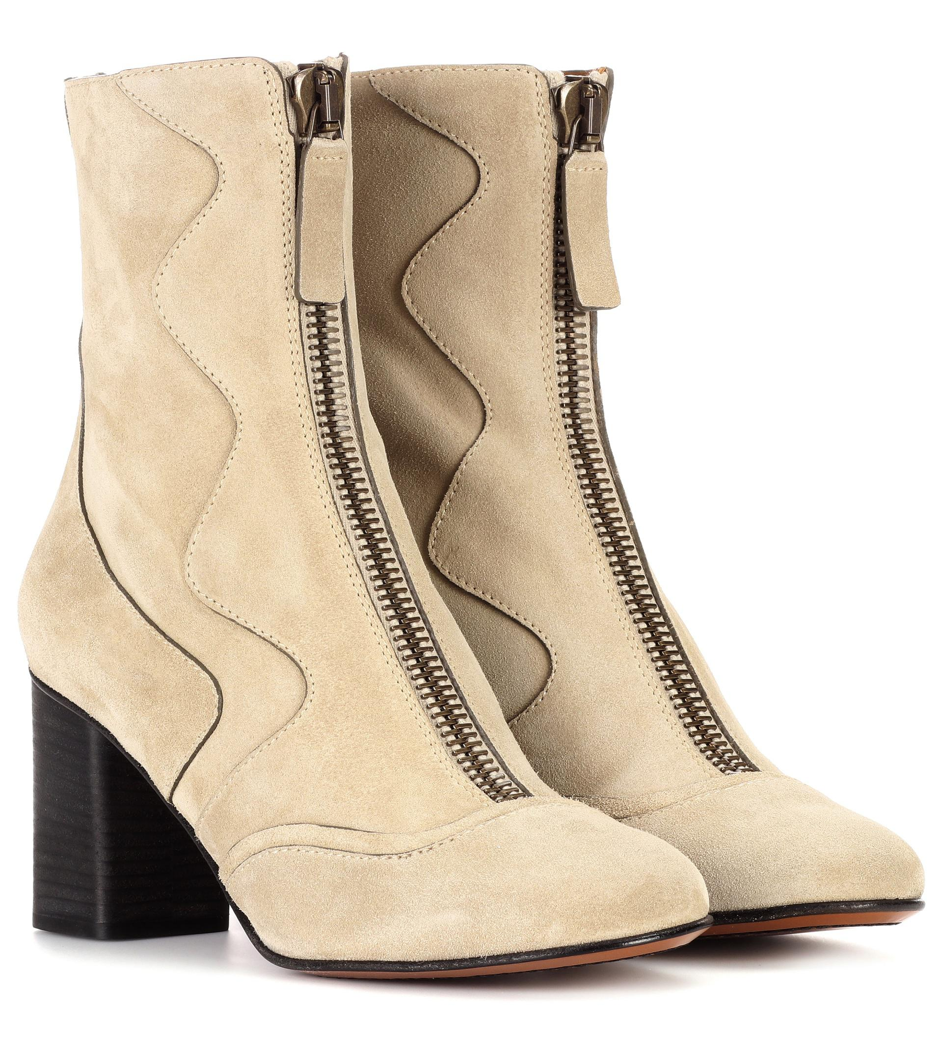 Exclusive to mytheresa.com - leather ankle boots Chlo Exclusive Free Shipping Order Good Selling Sale Classic p3uTCmxxv