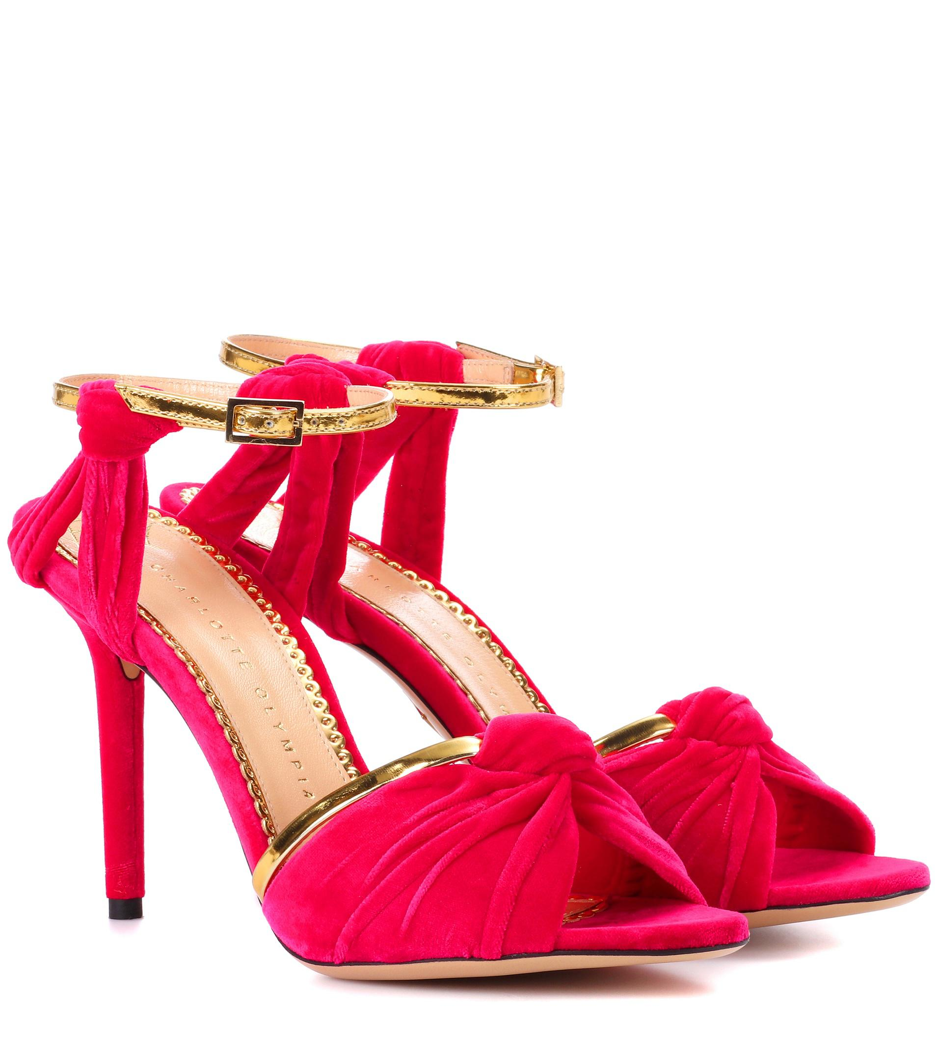 Broadway 95 velvet sandals Charlotte Olympia 205DlSW