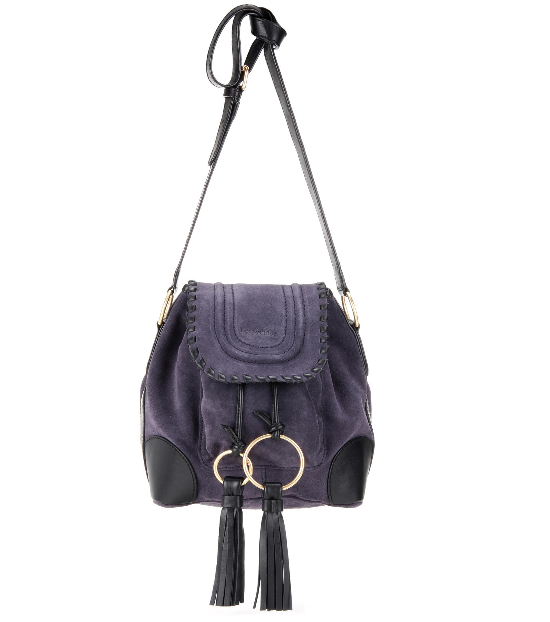 219f9c364 See By Chloé Polly Suede Bucket Bag in Purple - Lyst