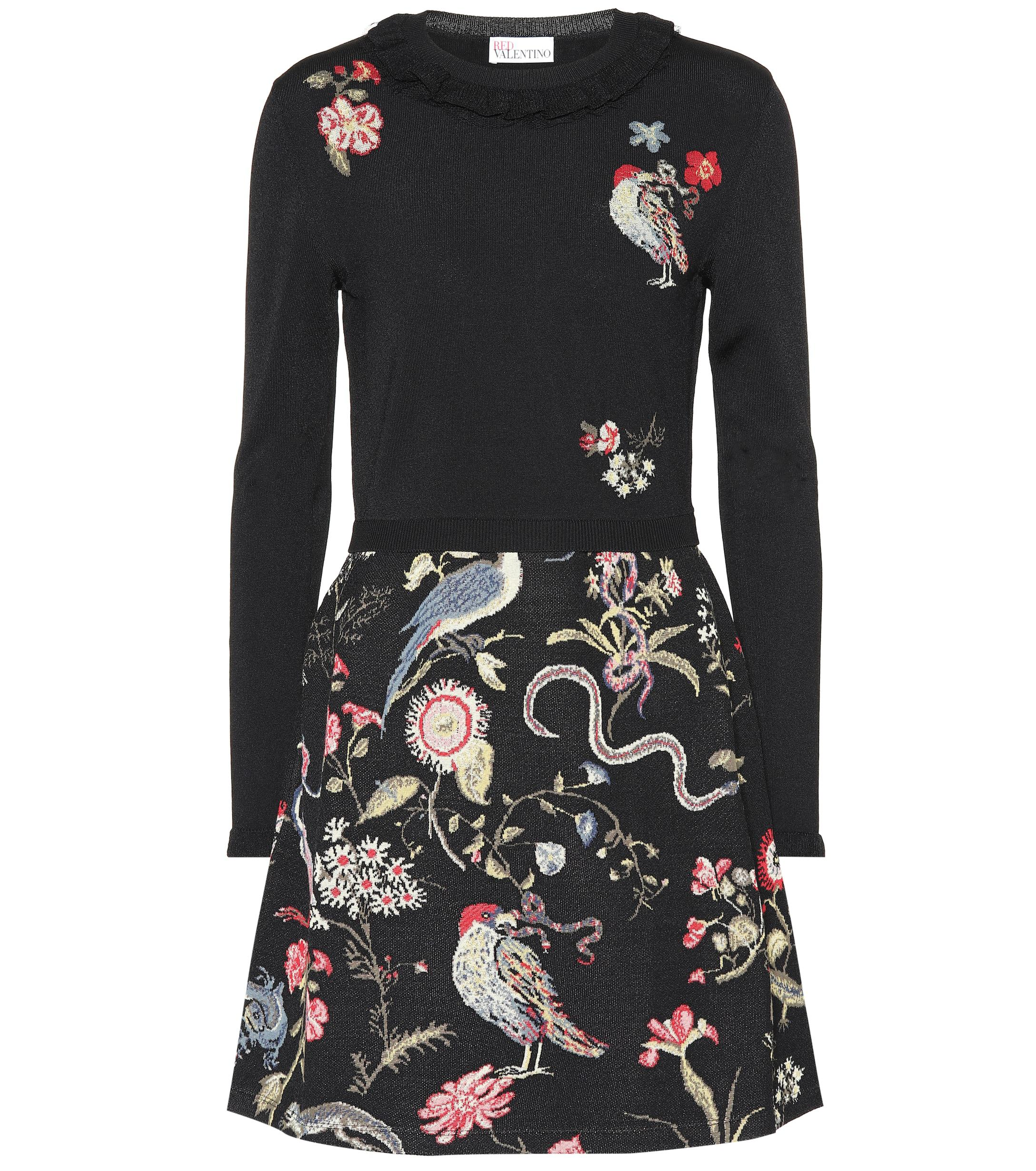 195b2c9f23b red-valentino-nero-Embellished-Jacquard-Minidress.jpeg