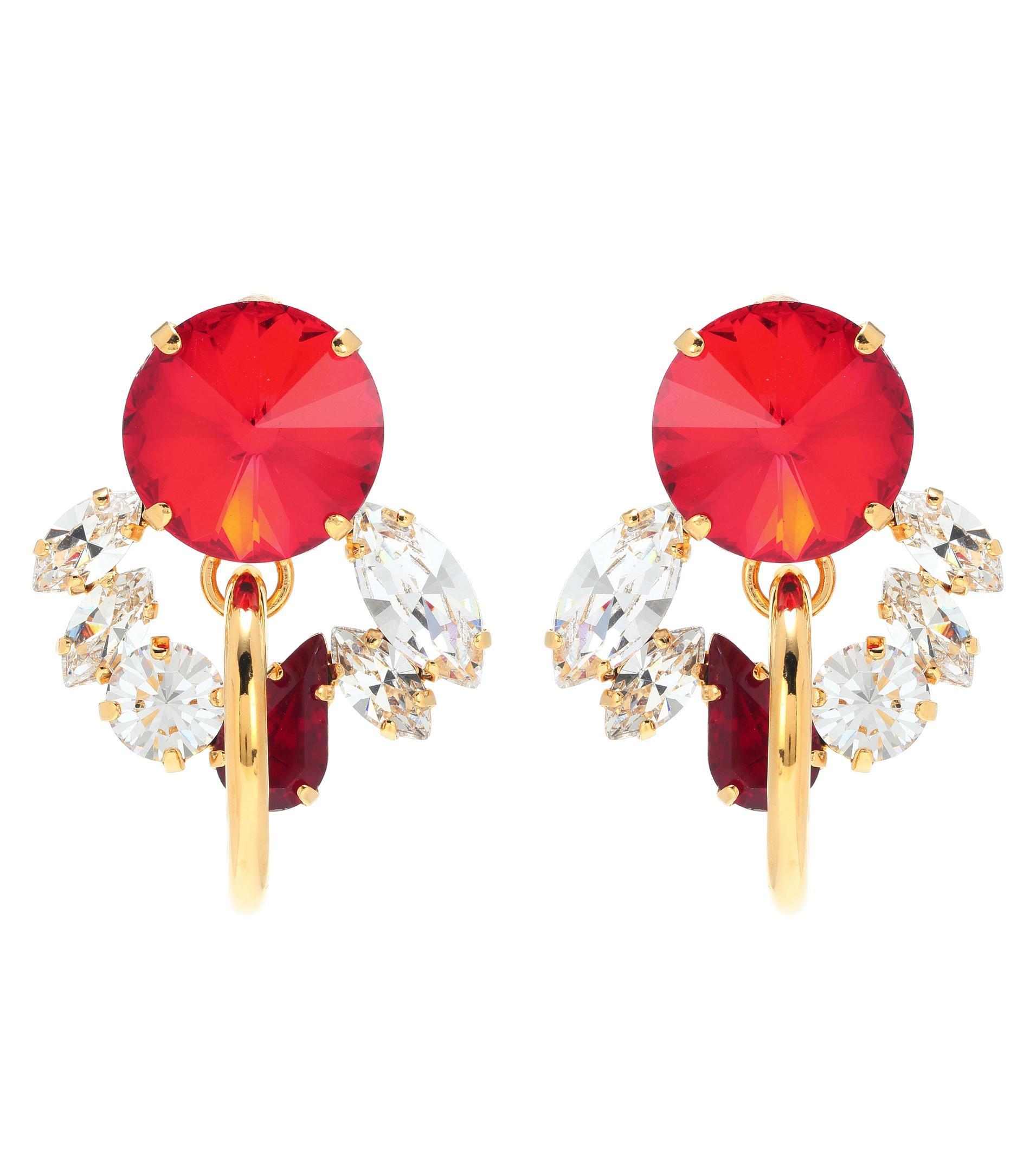 Crystal-embellished clip-on earrings Marni WbXlC