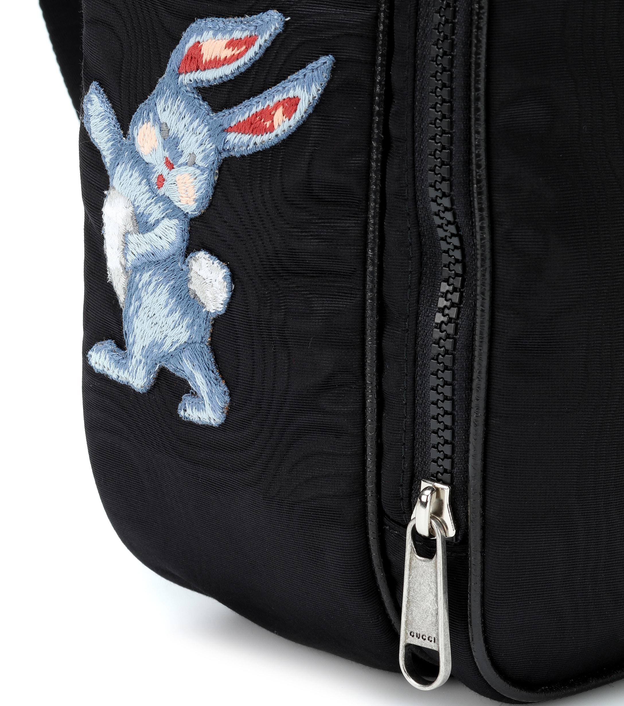 dfbde00e4b3f Gucci - Black Embroidered Medium Backpack - Lyst. View fullscreen