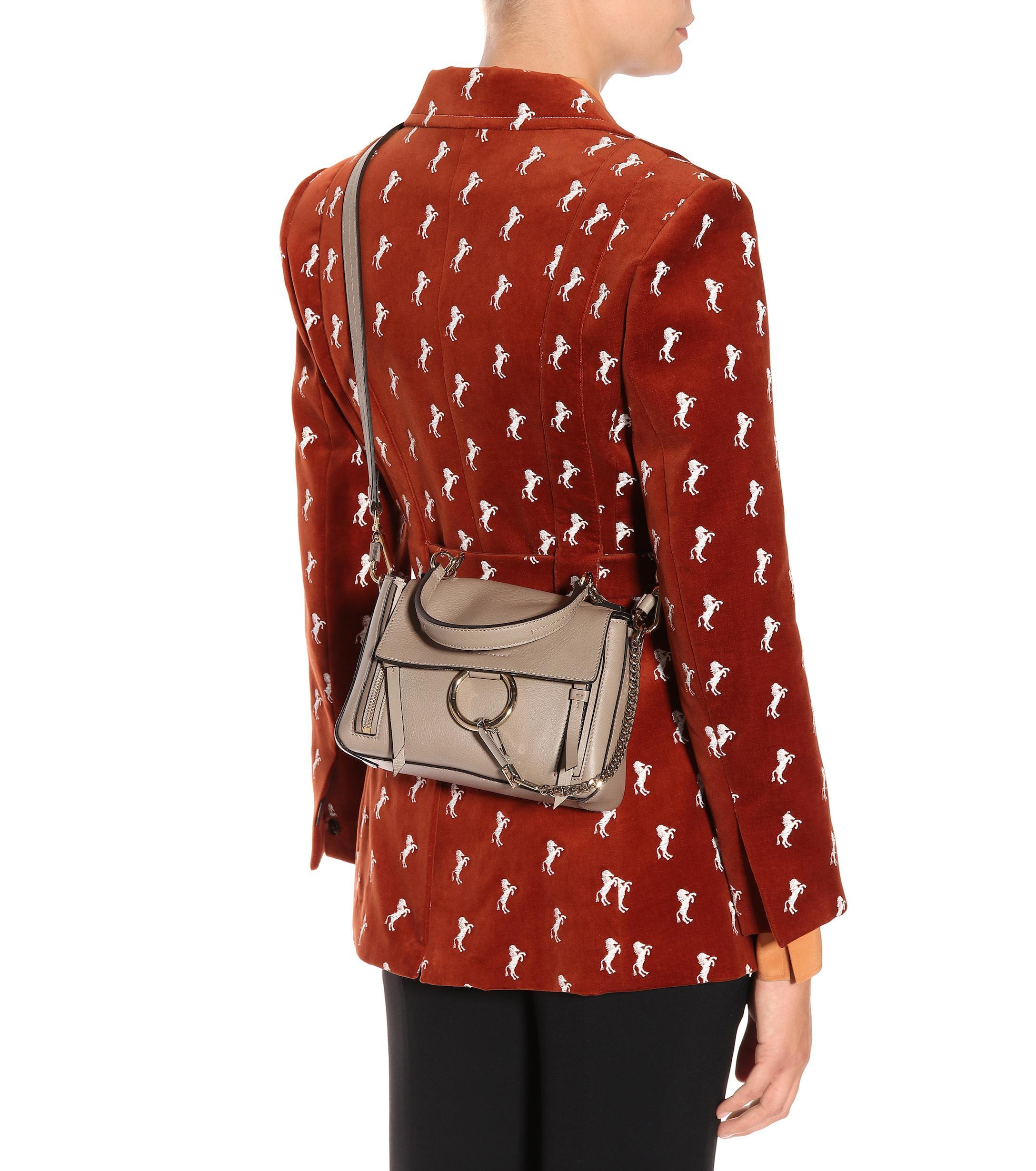 744f37c00 Chloé Mini Faye Day Leather Shoulder Bag - Lyst