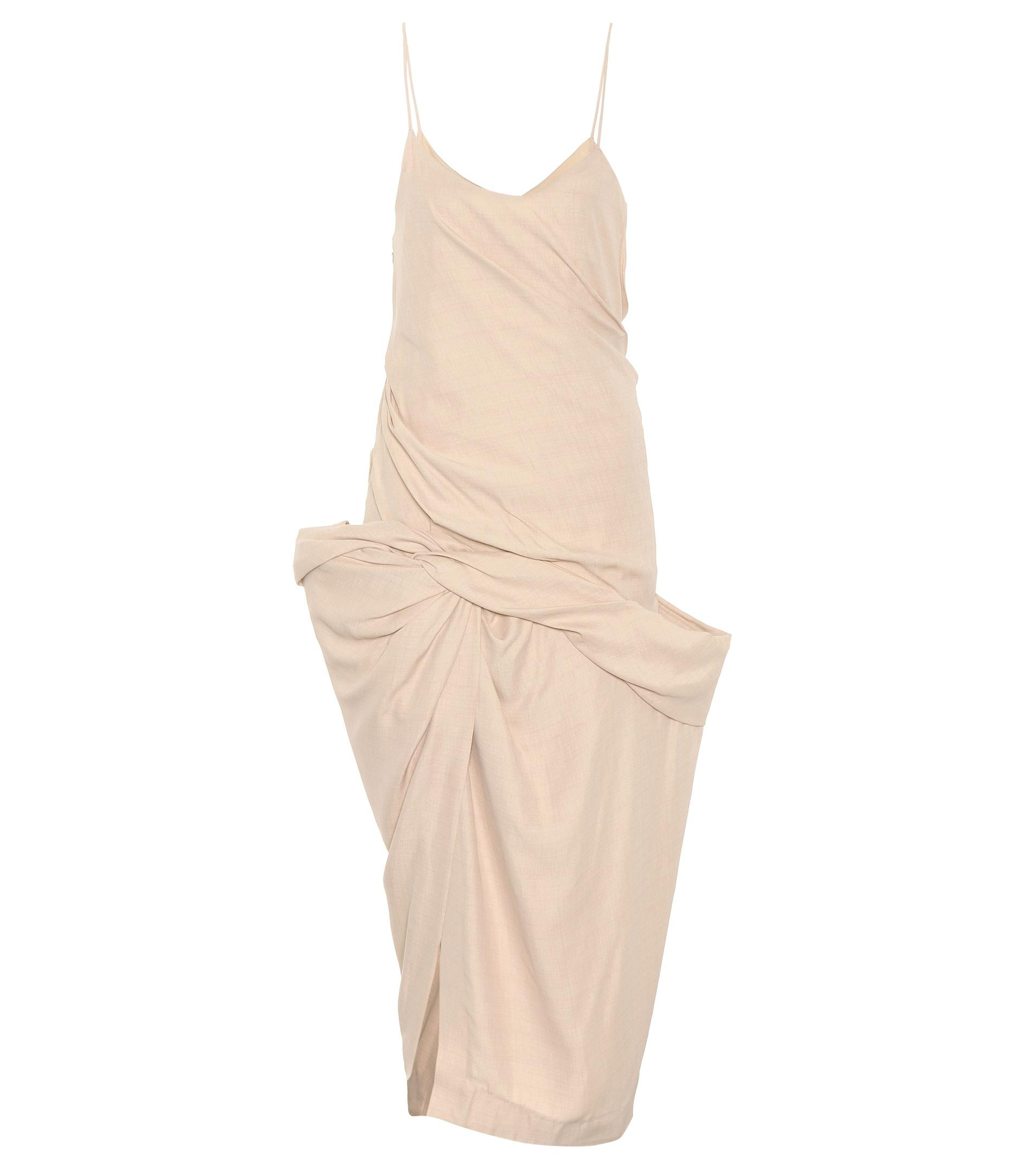 861ed04b03 Jacquemus Coracoa Dress in Natural - Lyst
