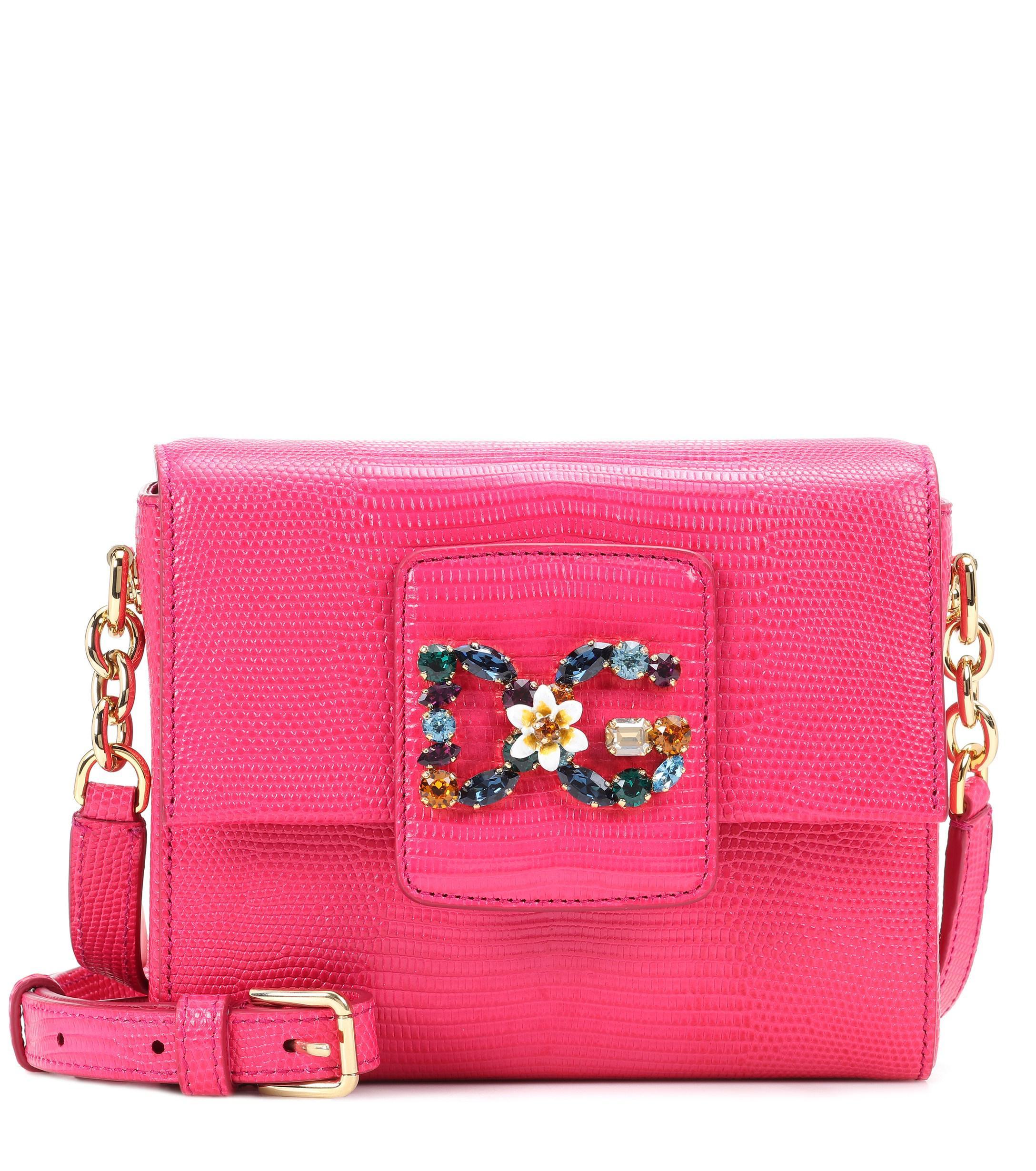 Dolce   Gabbana Dg Millennials Mini Leather Shoulder Bag in Pink - Lyst 0f828b03361e9