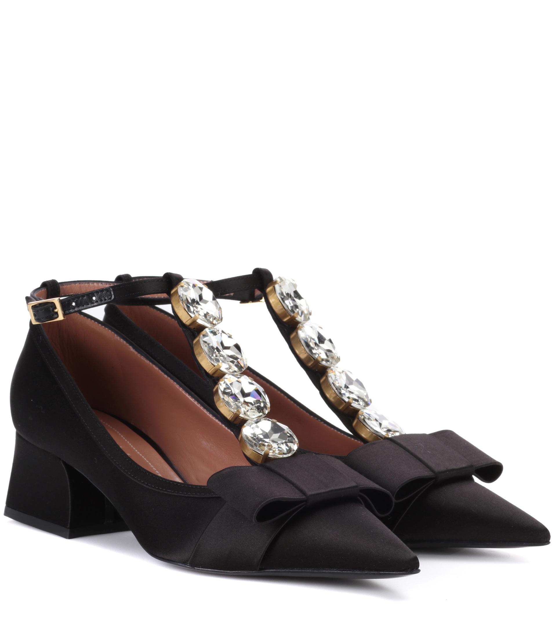 Marni Satin Embellished Pumps clearance official site ryC65a