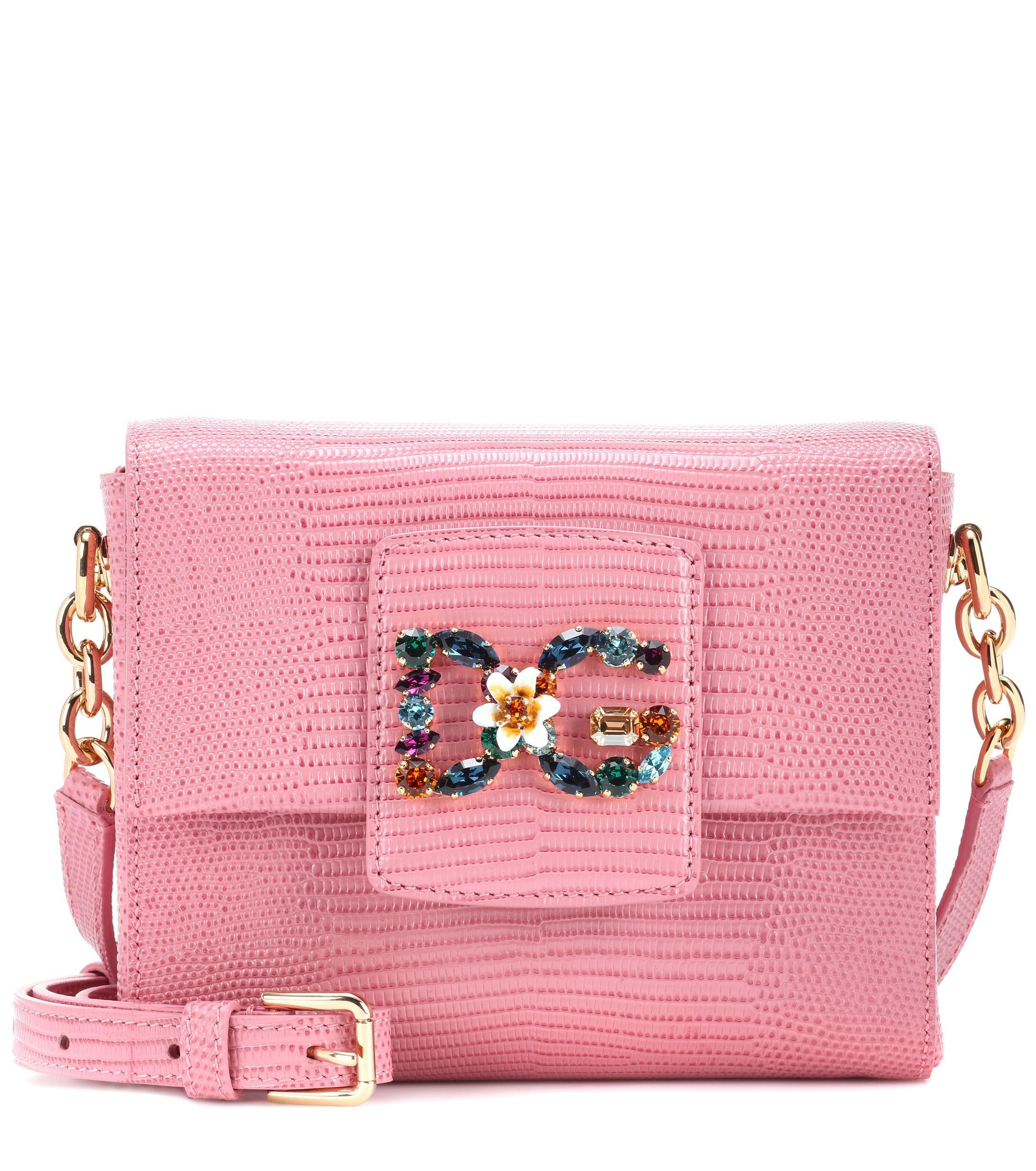 Lyst - Dolce   Gabbana Dg Millennials Mini Leather Shoulder Bag in Pink 01f1d5db418bc