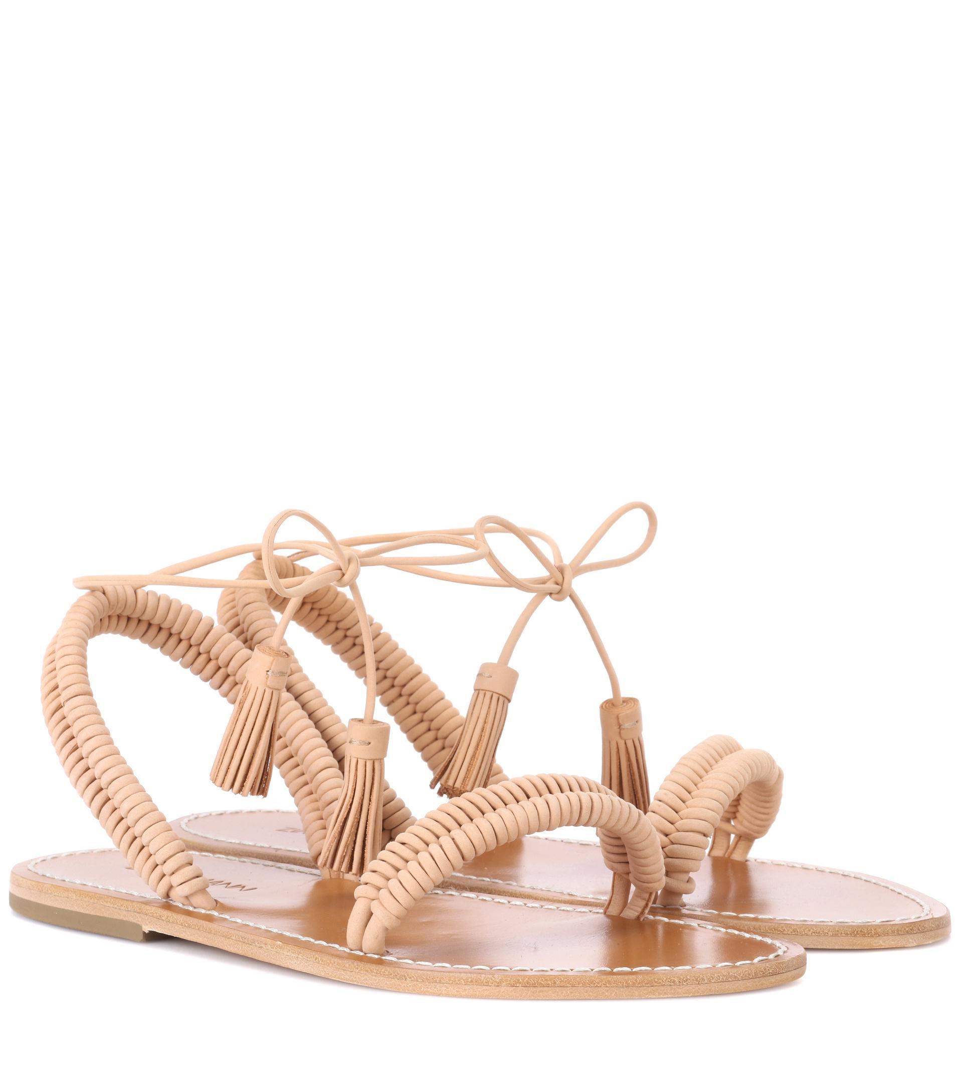 ZIMMERMANN Wrap Weave leather sandals 3Nkv7dD